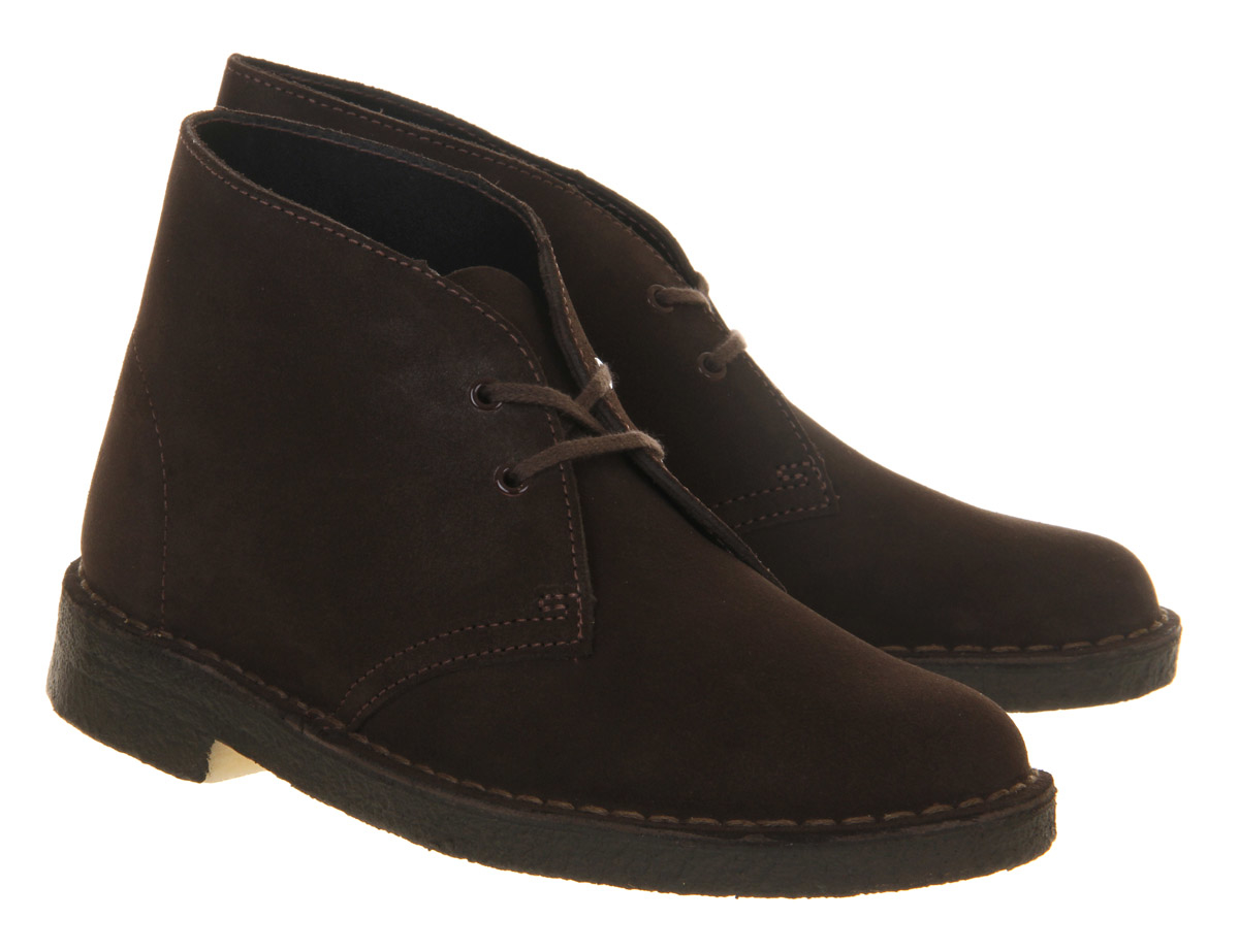 clarks desert boots w in brown lyst