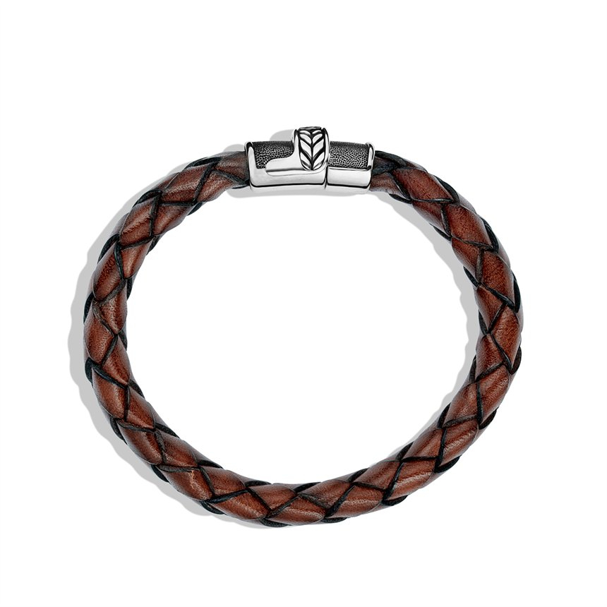 david yurman chevron bracelet in brown leather in brown