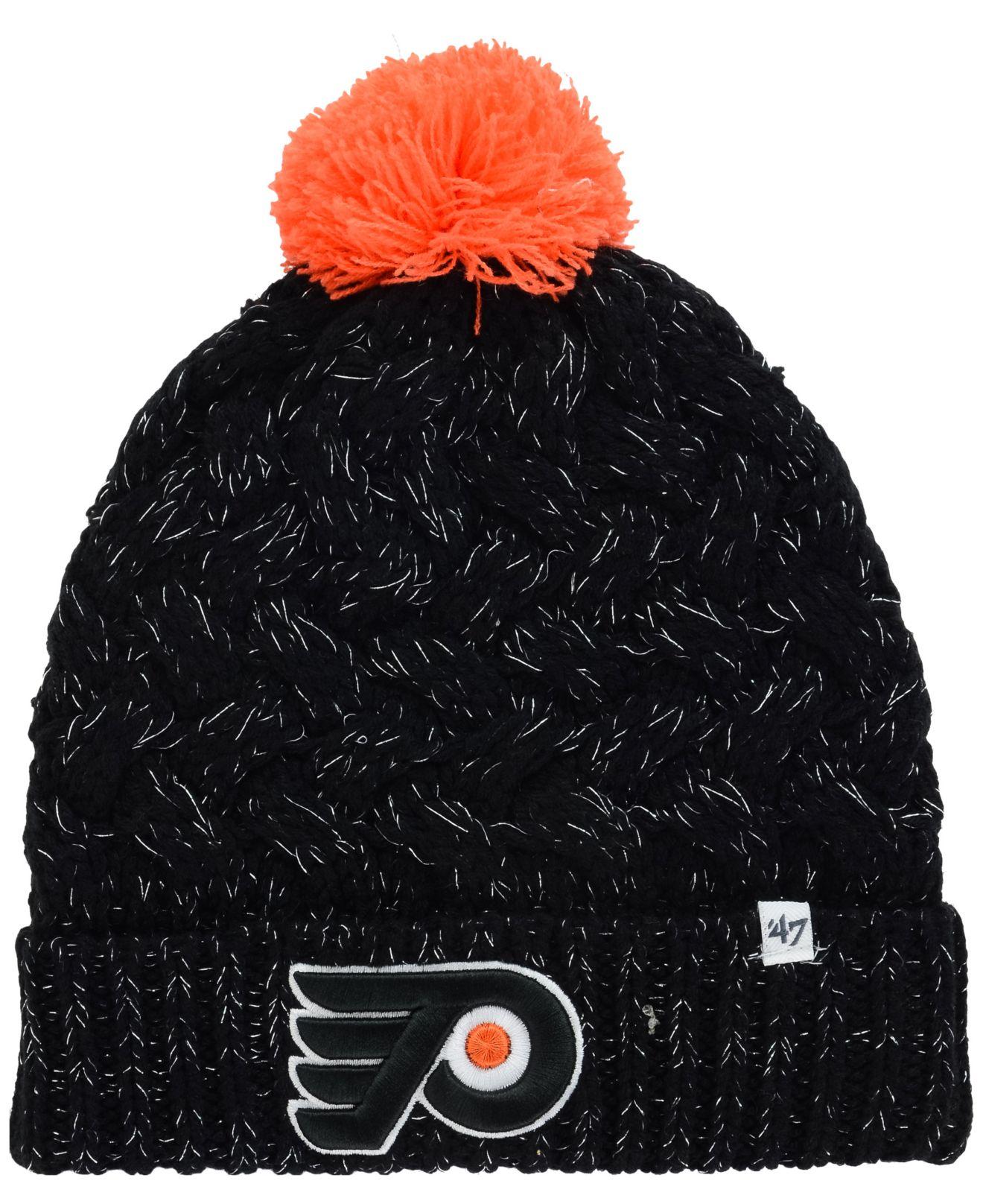 Lyst - 47 Brand Women s Philadelphia Flyers Fiona Pom Knit Hat in Black b153a39f8