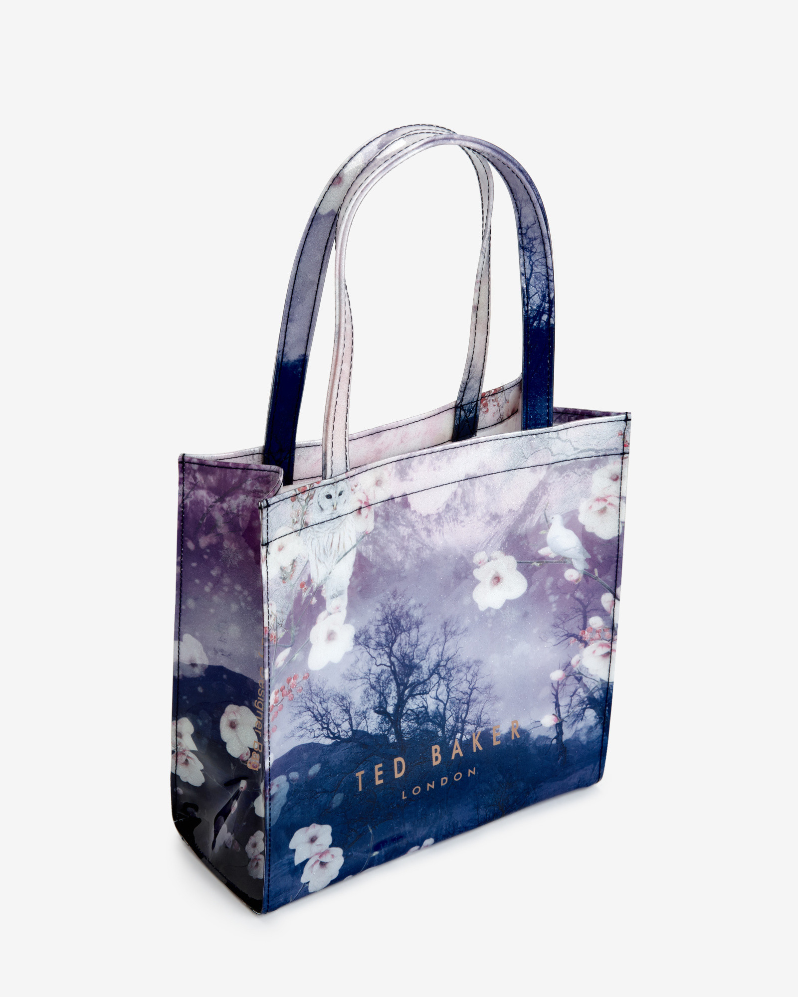 37ecaf93048de Ted Baker Small Misty Mountains Shopper Bag in Blue - Lyst