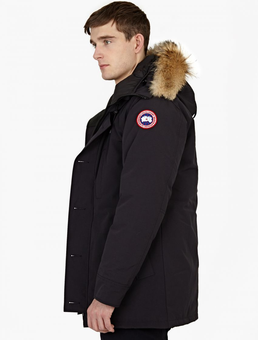 Canada Goose mens sale store - Canada goose Navy Fur-trimmed 'chateau' Parka in Gray for Men | Lyst