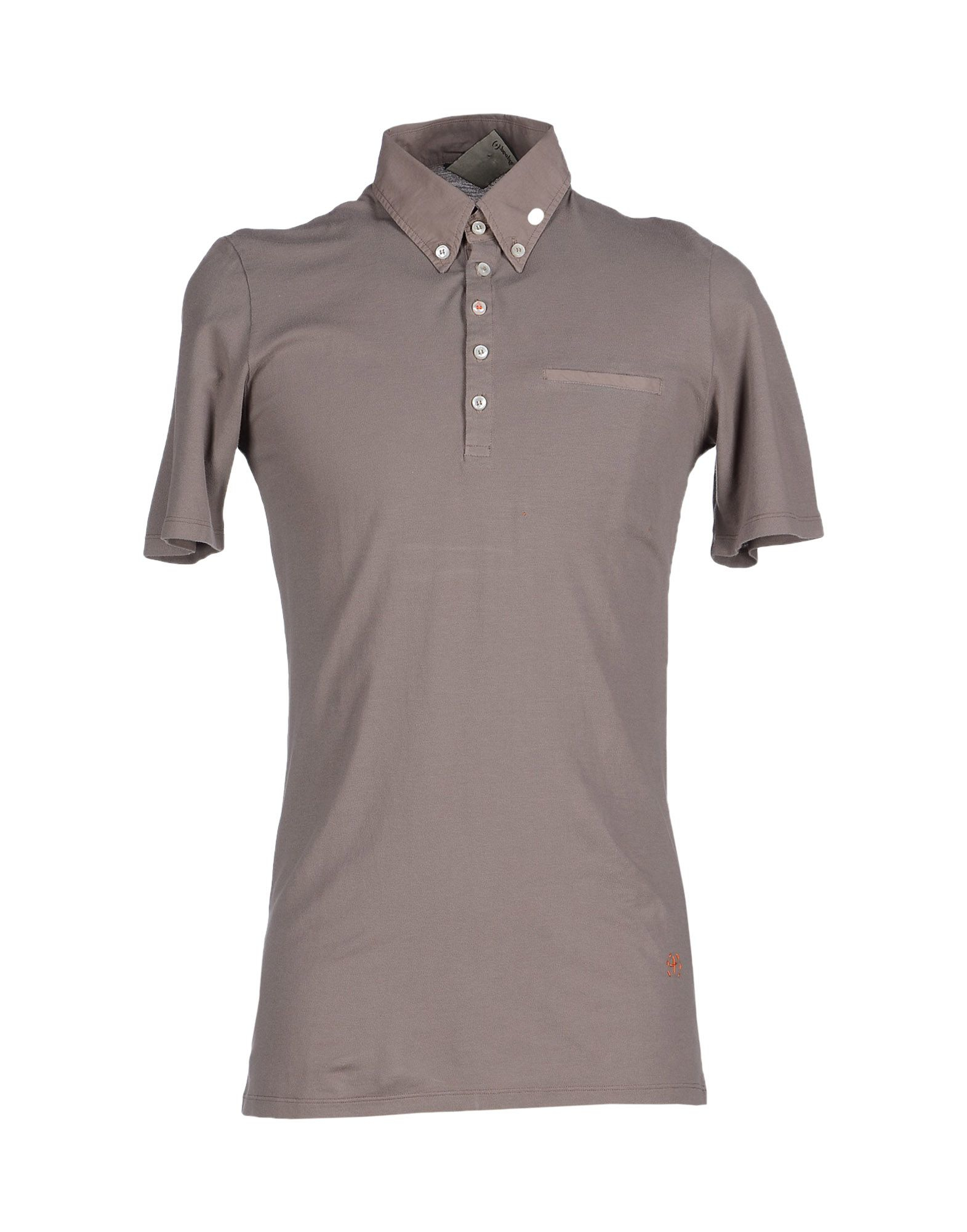 People people polo shirt in brown for men lyst for Light brown polo shirt