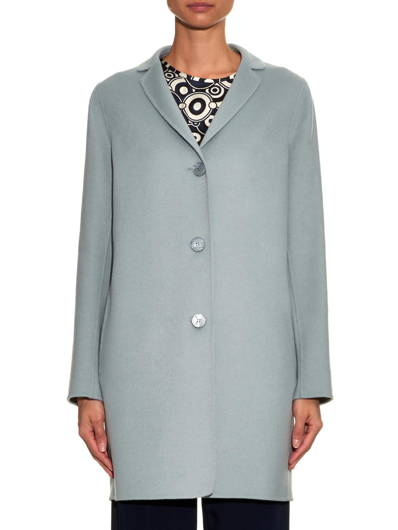 S Max Mara Diritto Coat In Blue Lyst