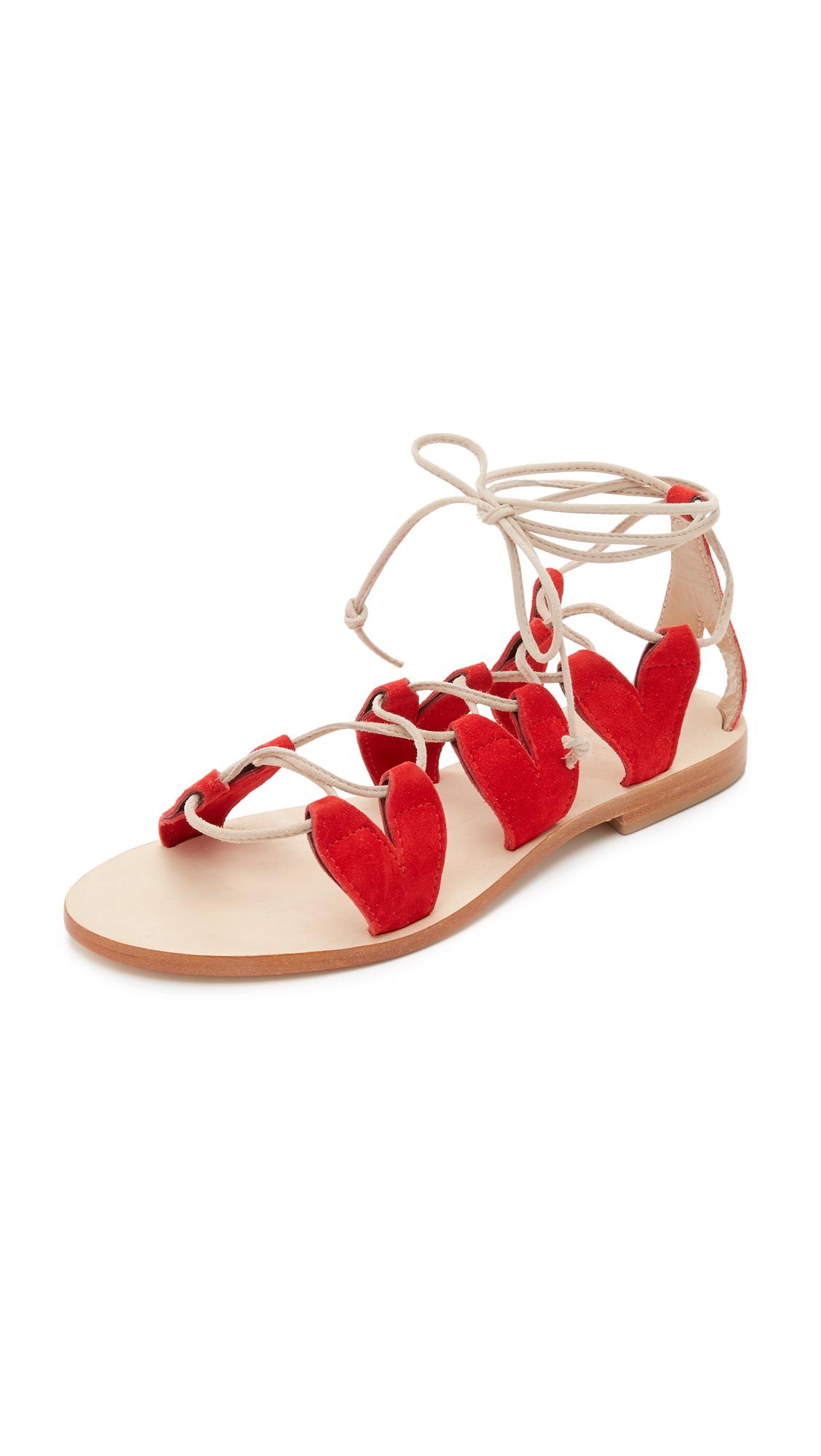 d86316e4ca14 Cornetti Innamorati Gladiator Sandals in Red - Lyst