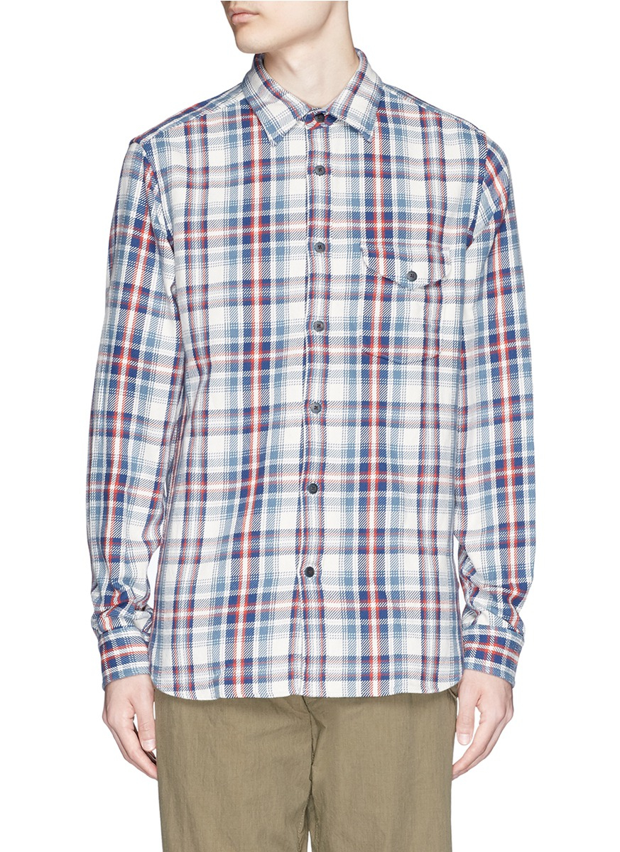Alex Mill 39 Brushed Twill 39 Plaid Shirt For Men Lyst
