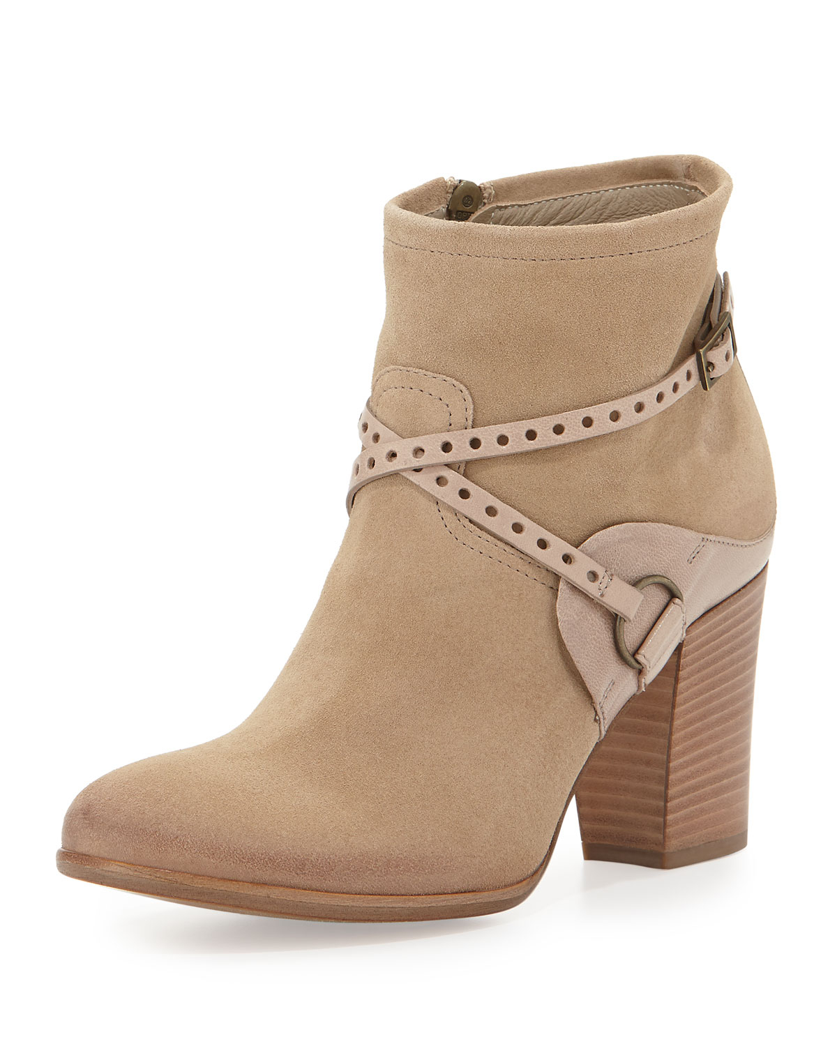 8a4fdd2ea4d Lyst - Alberto Fermani Follina Suede Ankle Boot in Natural
