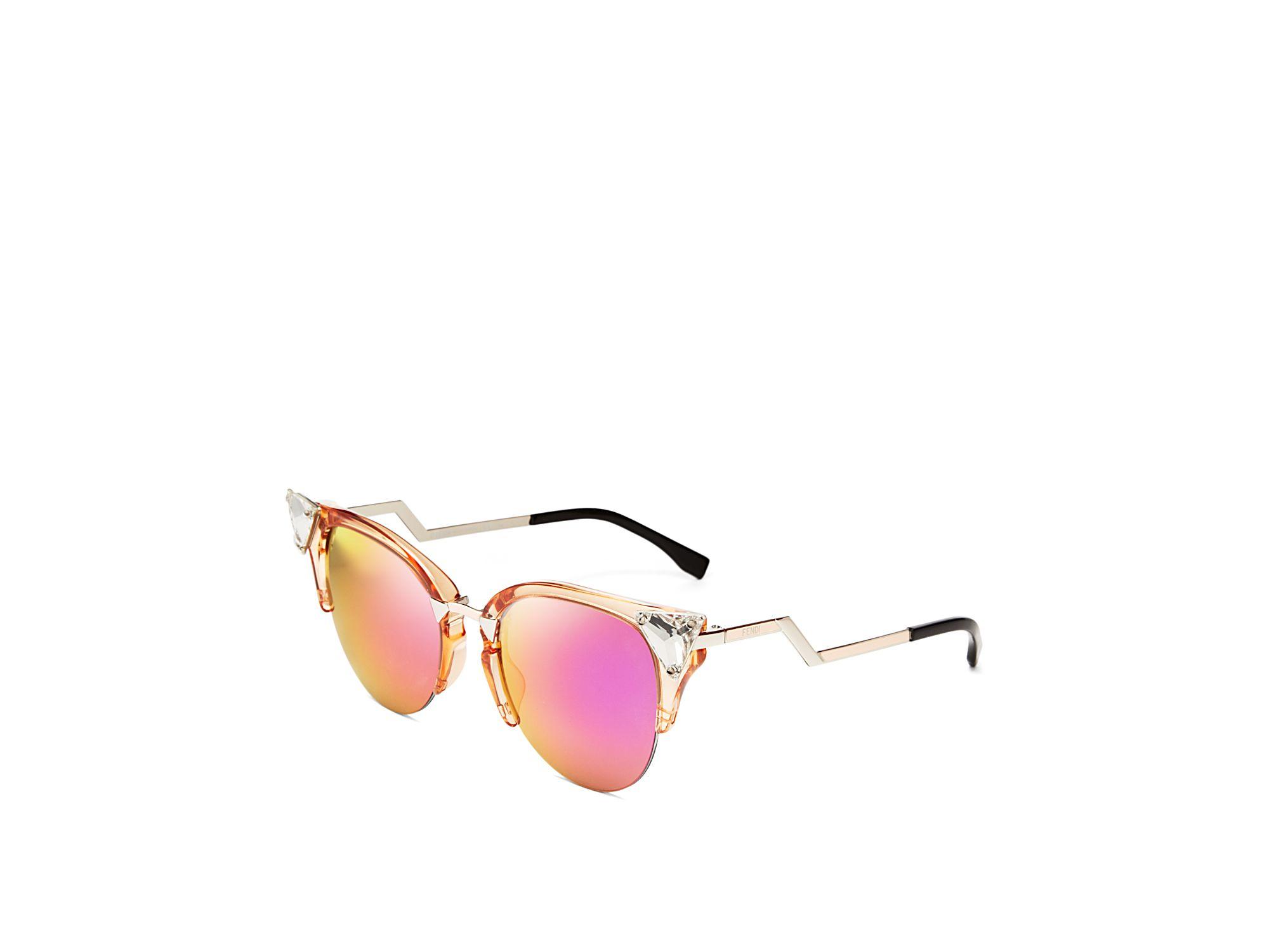d2d119191e27 Mirrored Cat Eye Sunglasses