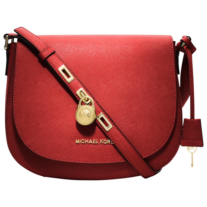 623db5350de0 MICHAEL Michael Kors Hamilton Large Messenger Handbag in Red - Lyst