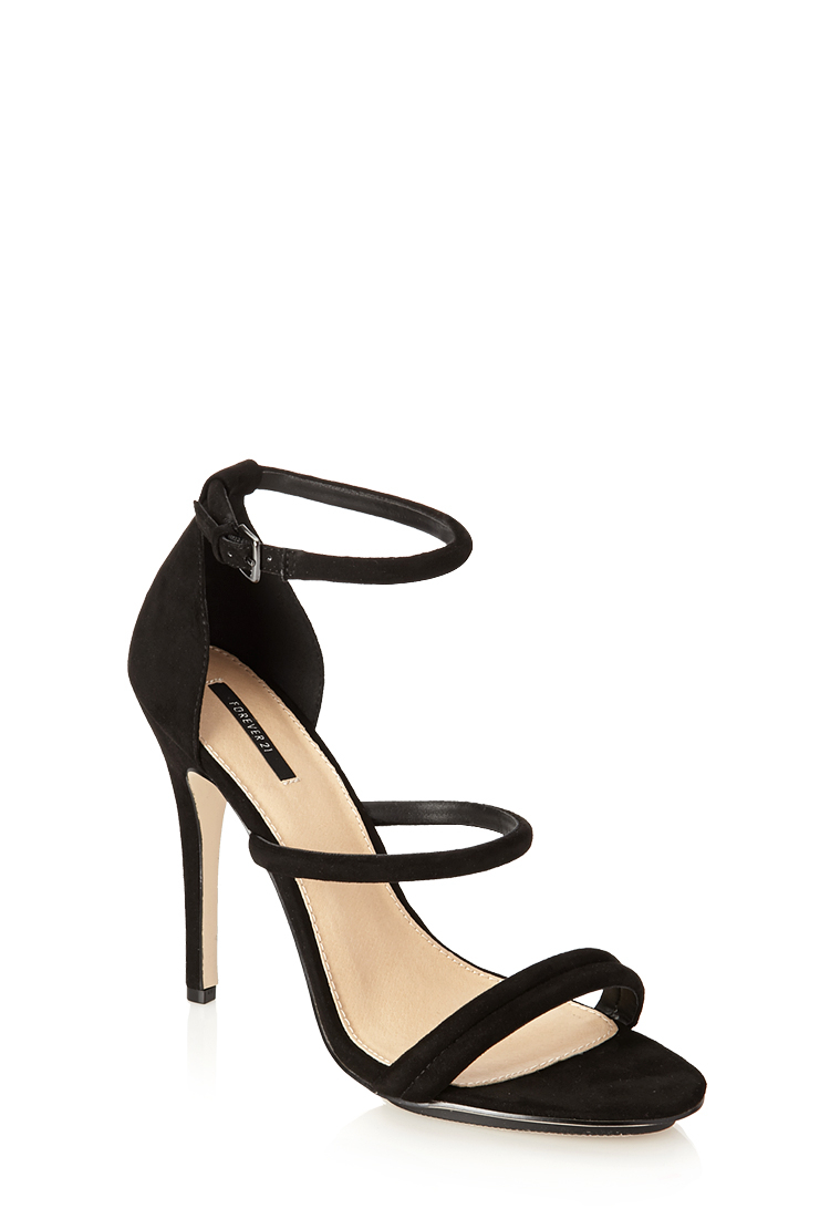 Forever 21 Faux Patent Leather Crisscross Heels