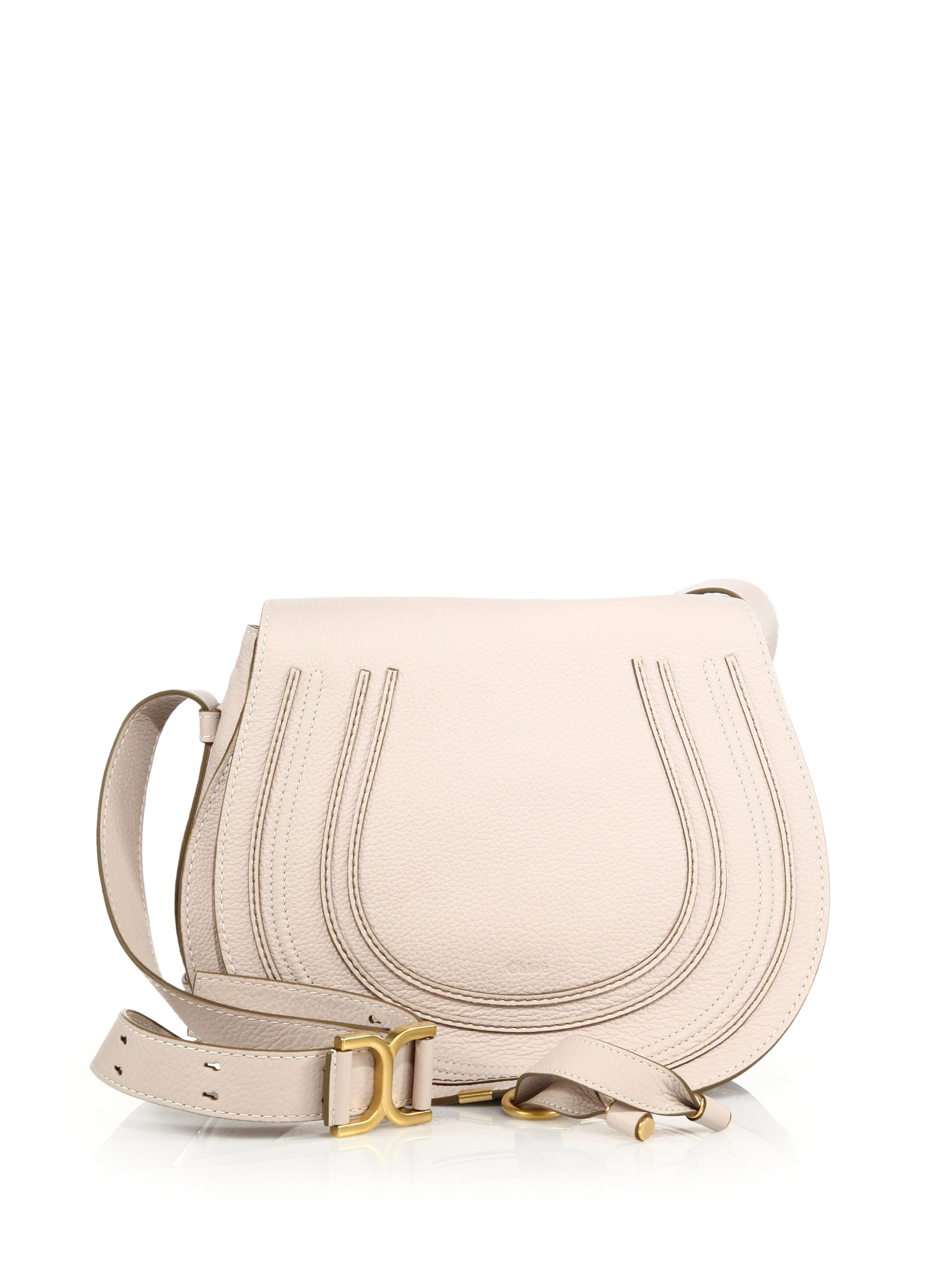 Chlo¨¦ Marcie Medium Crossbody Bag in White (ABSTRACT WHITE) | Lyst