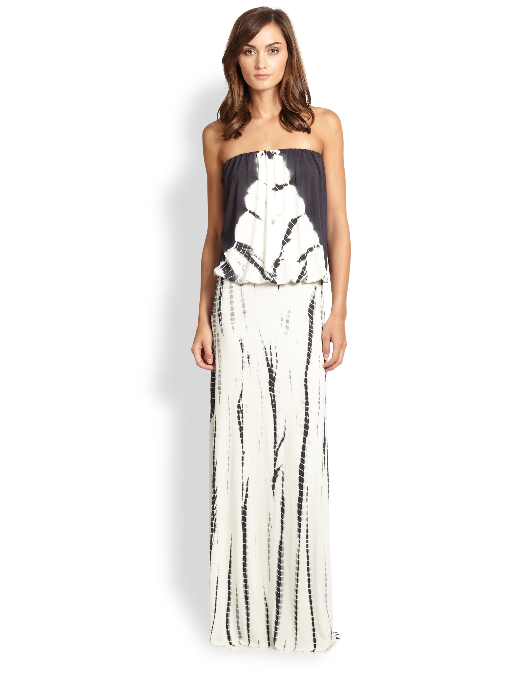 Young Fabulous & Broke Strapless Ombre Jersey Maxi Dress ...