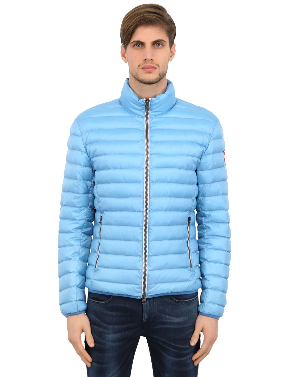 Lyst - Colmar Quilted Light Nylon Down Jacket in Blue for Men 9f8095636