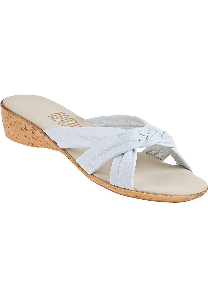 Onex for jildor Marion Slide Sandal White Leather in White ...