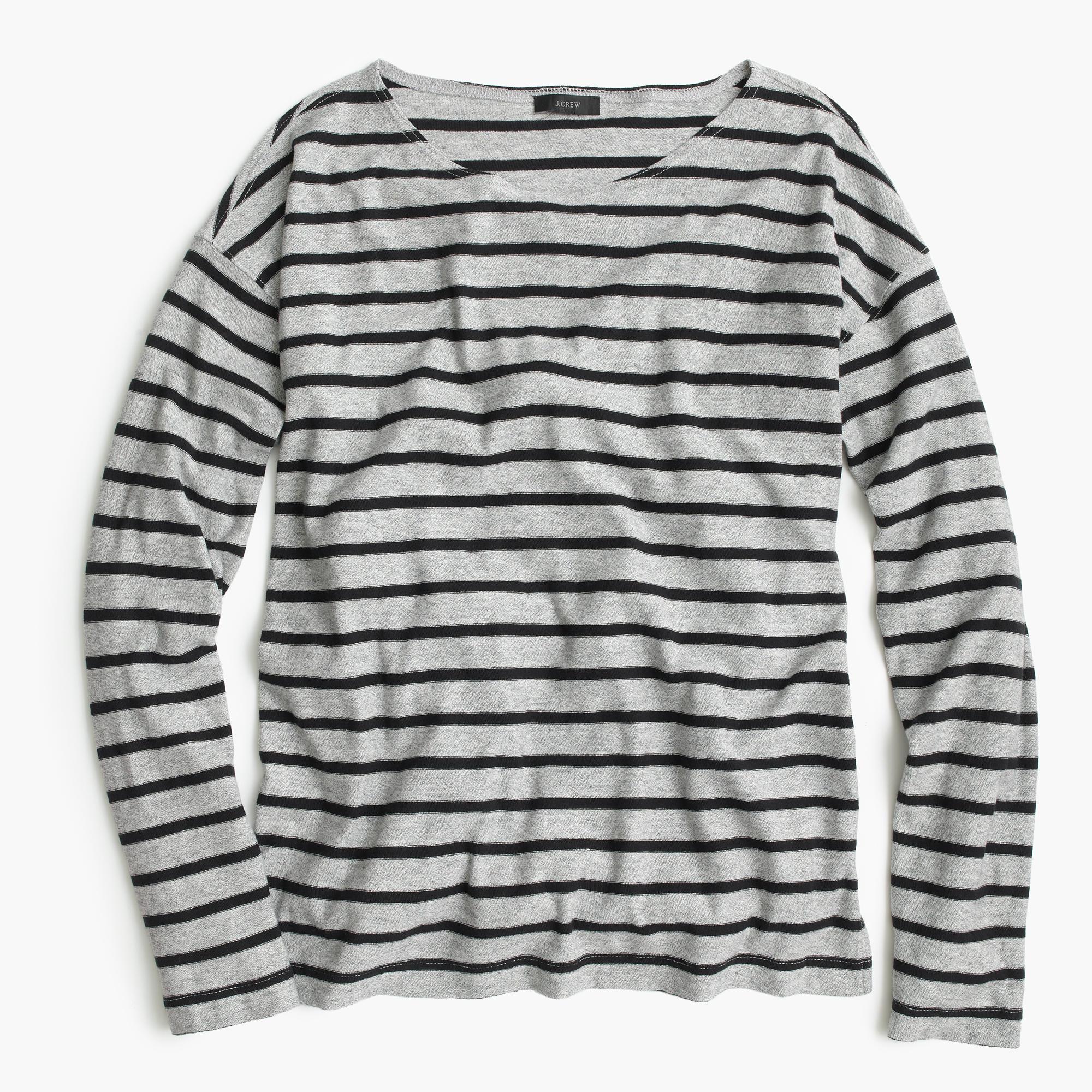 Deck striped t shirt in gray lyst Grey striped t shirt