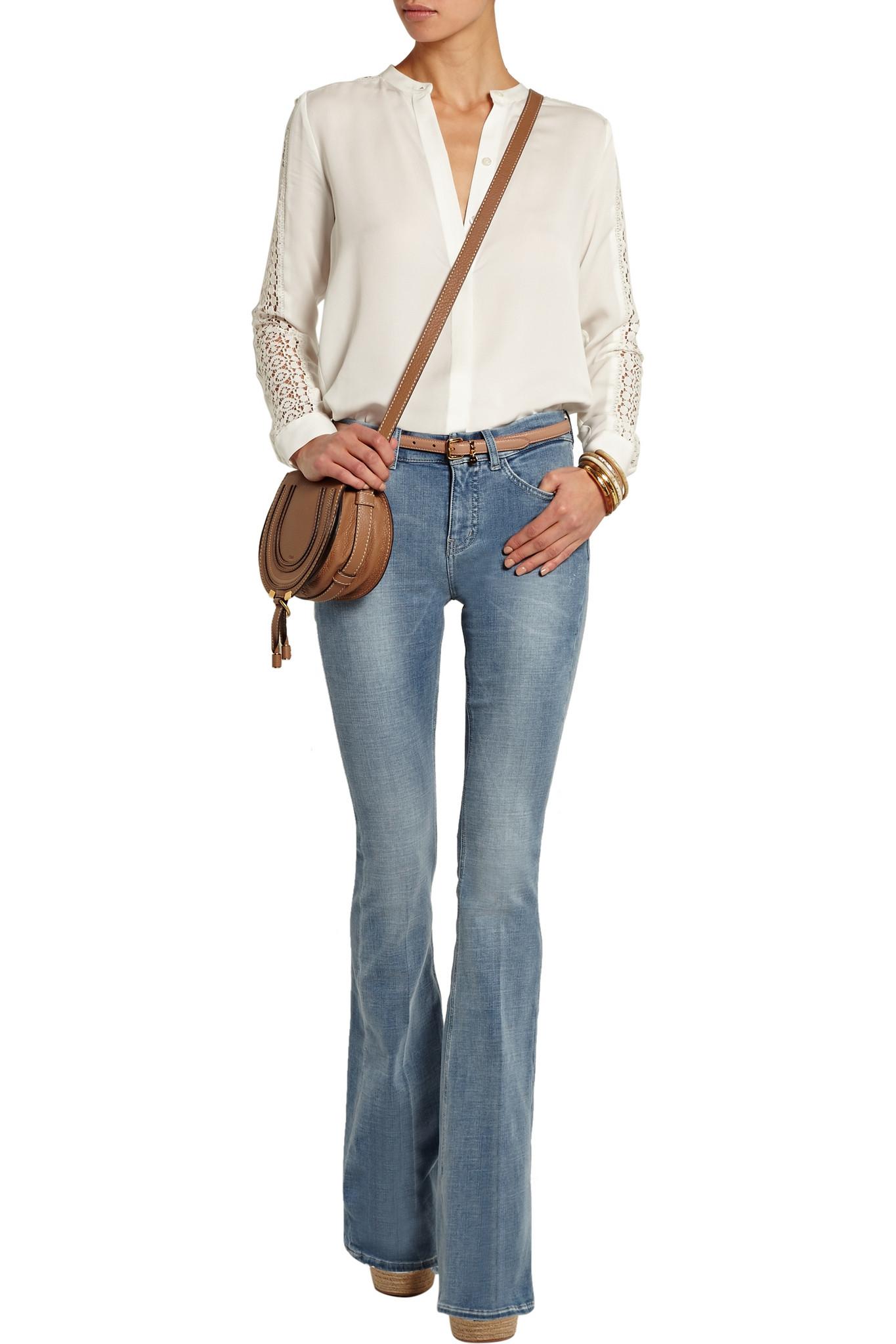 michael kors silk crepe blouse women 39 s lace blouses. Black Bedroom Furniture Sets. Home Design Ideas