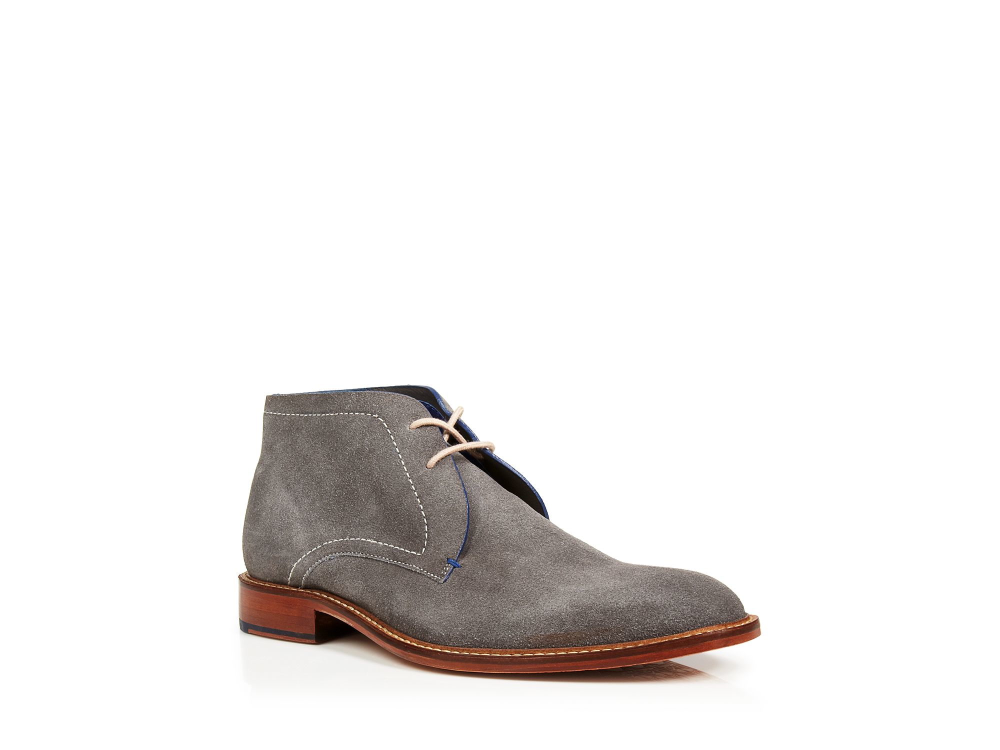 Lyst Ted Baker Torsdi 3 Suede Chukka Boots In Gray For Men