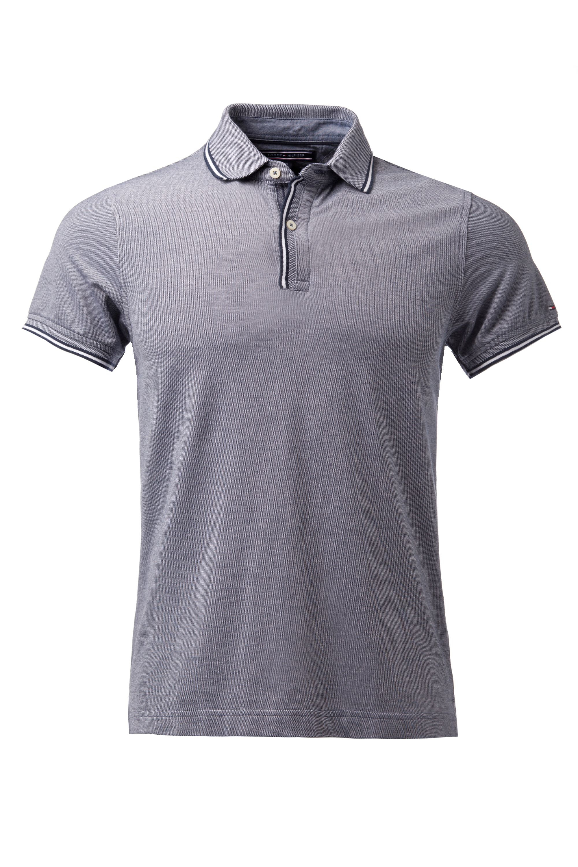 Tommy hilfiger bram plain slim fit polo shirt in blue for for Plain navy polo shirts