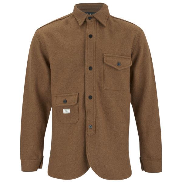 Han Kjobenhavn Mens Multi Pocket Army Shirt In Brown For