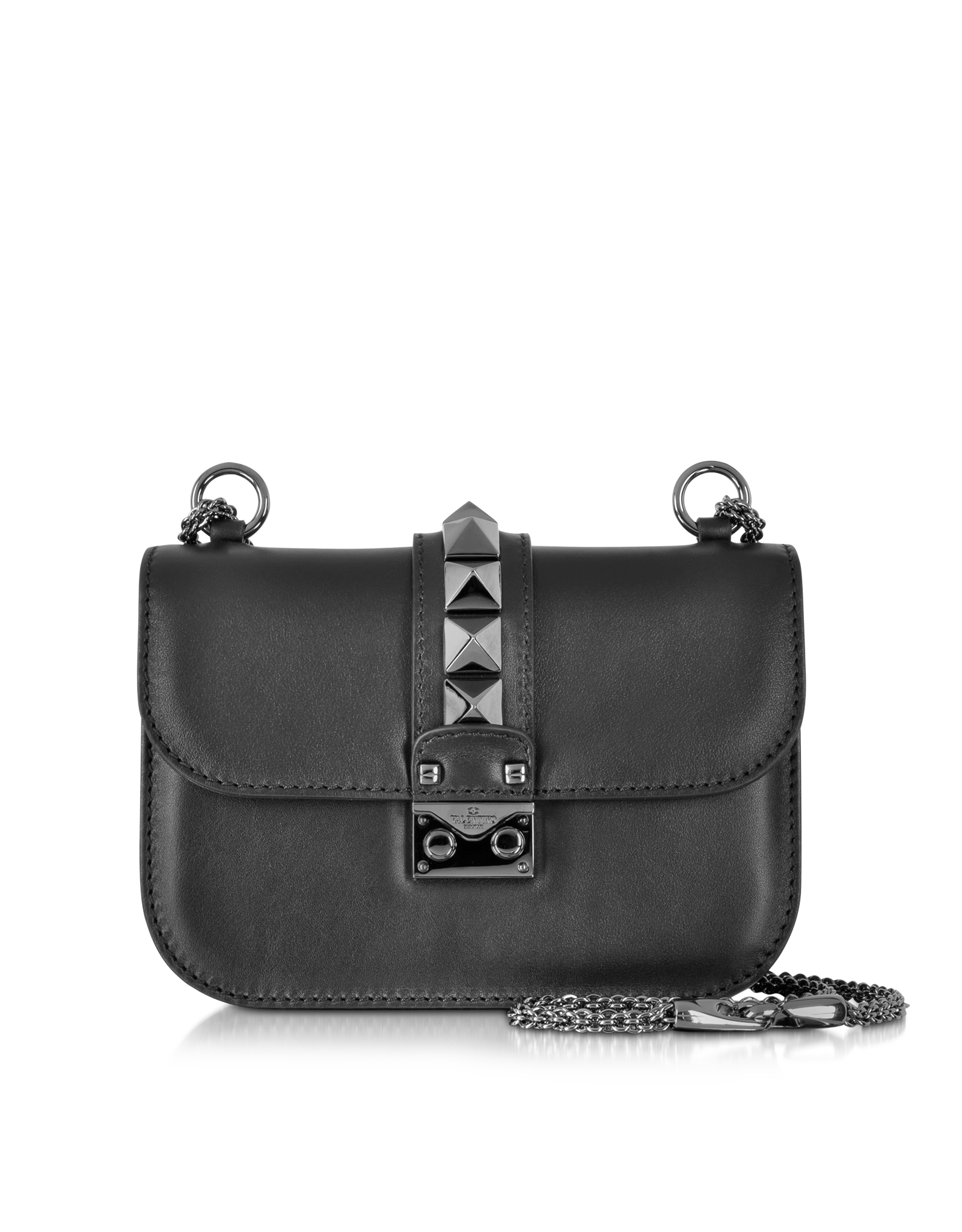 Valentino Noir Small Chain Shoulder Bag in Black | Lyst