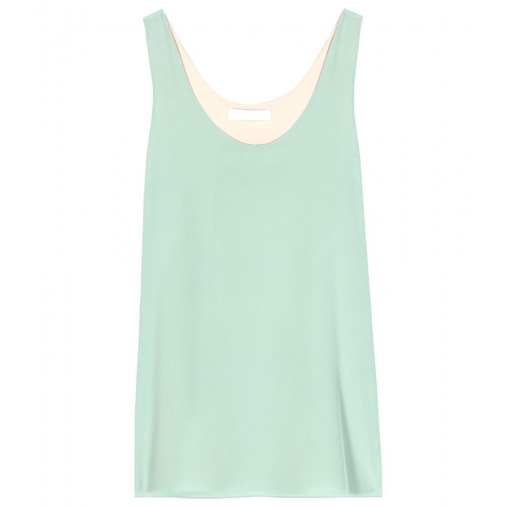 4d76e4bd24360 Chloé Silk Top in Blue - Lyst