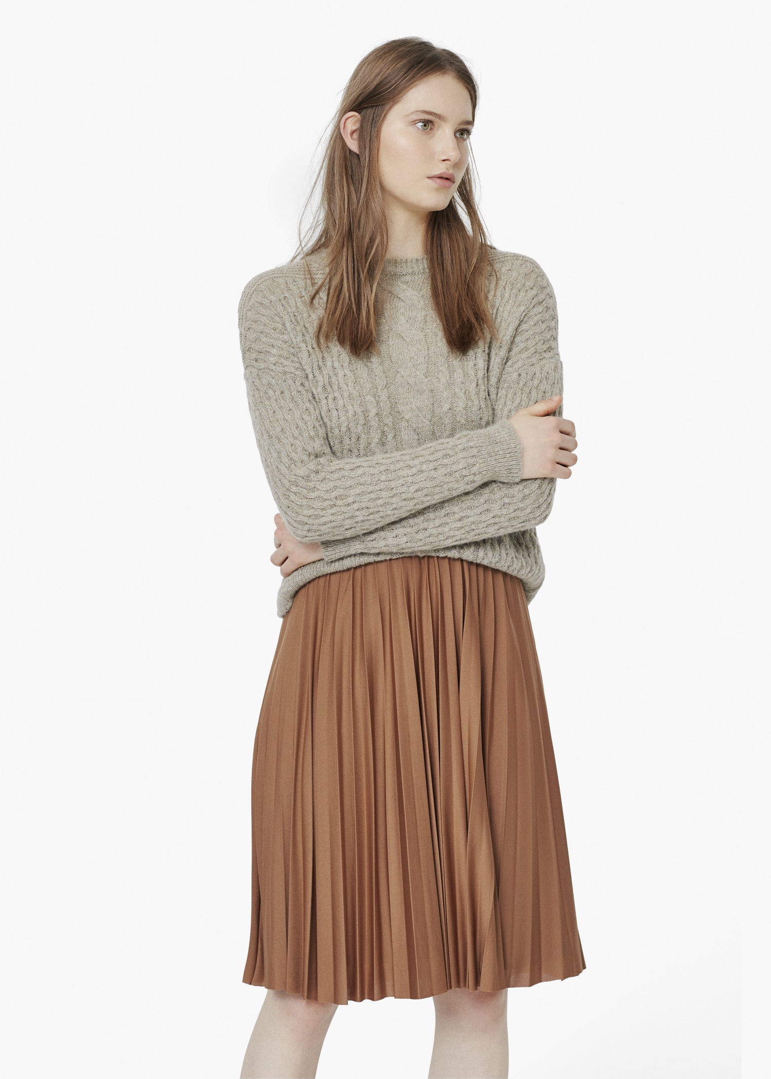 Midi Brown Skirt - Dress Ala