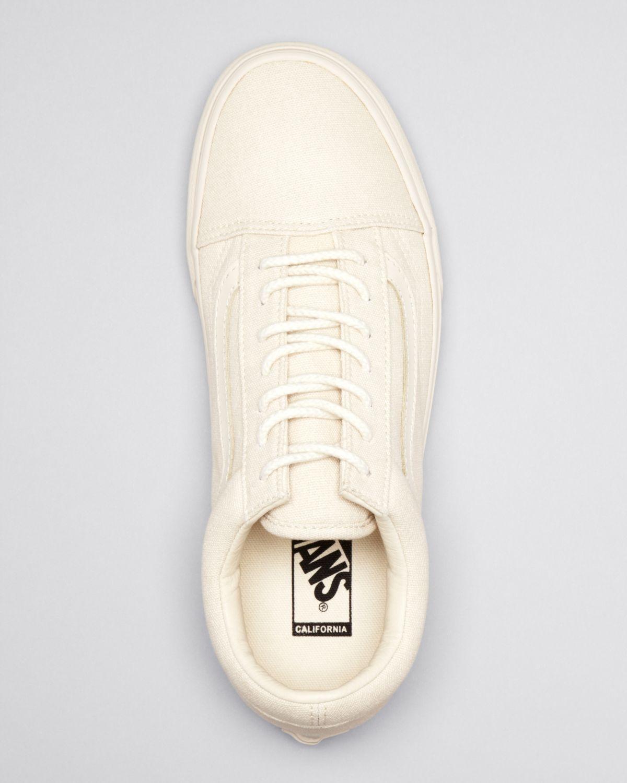 b519947c3f Lyst - Vans Water Repellent Old Skool Reissue Sneakers in Natural ...