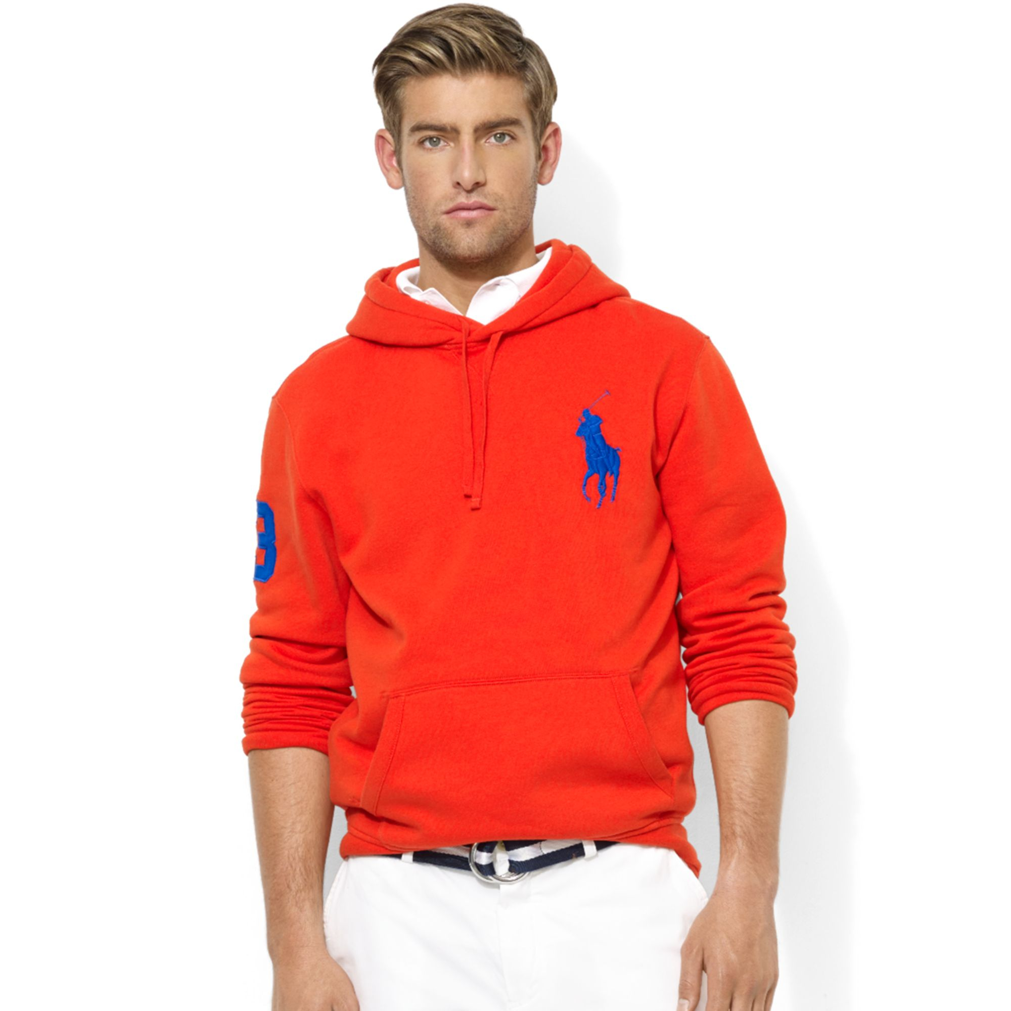 bb565888 Ralph Lauren Polo Big Pony Beach Fleece Pullover Hoodie in Red for ...