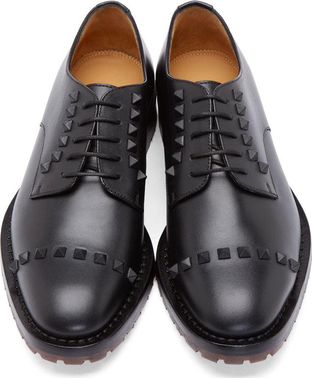 Black Studs derby shoes Valentino e5Uz1l