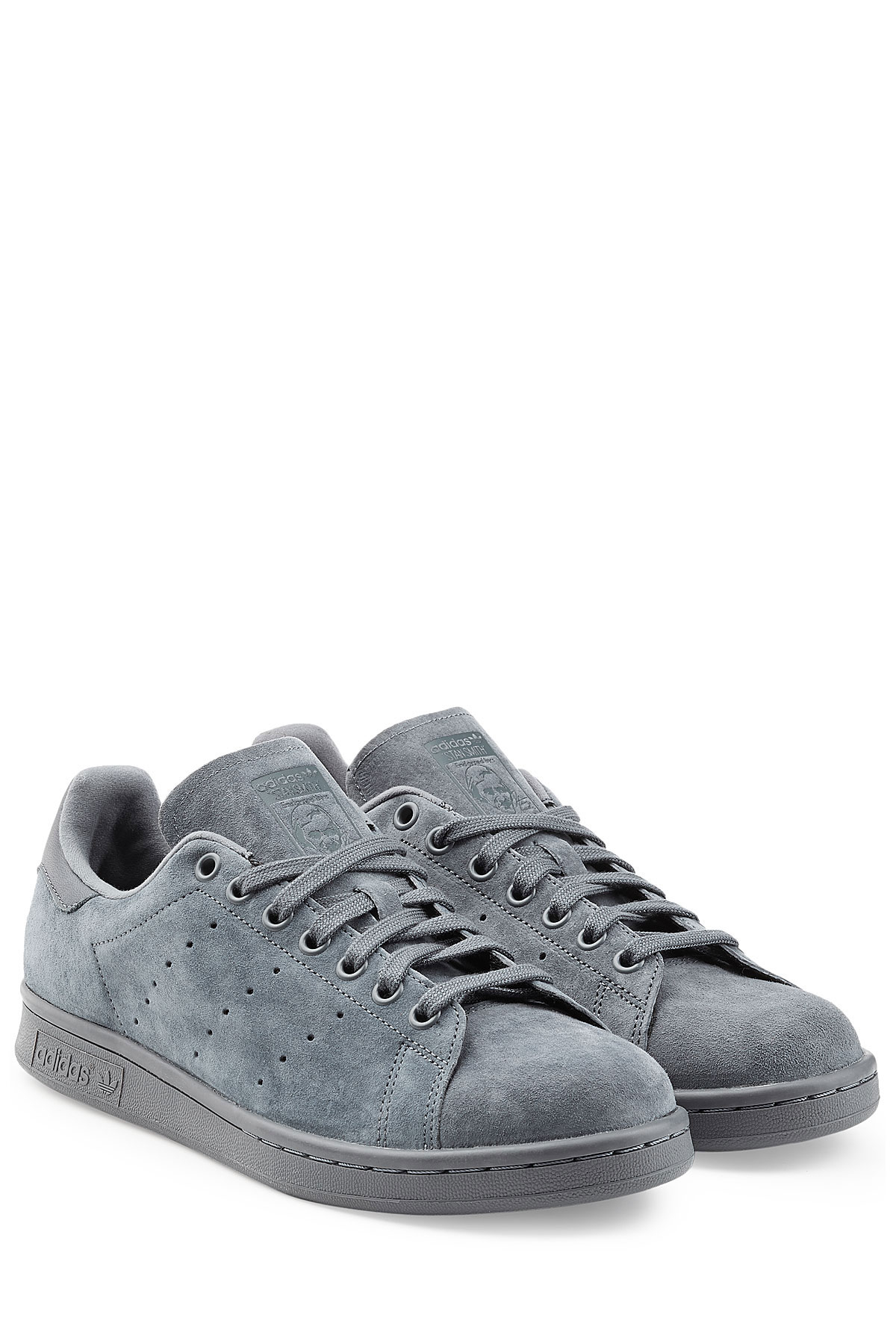 adidas ltd navy suede stan smith sneakers. Black Bedroom Furniture Sets. Home Design Ideas