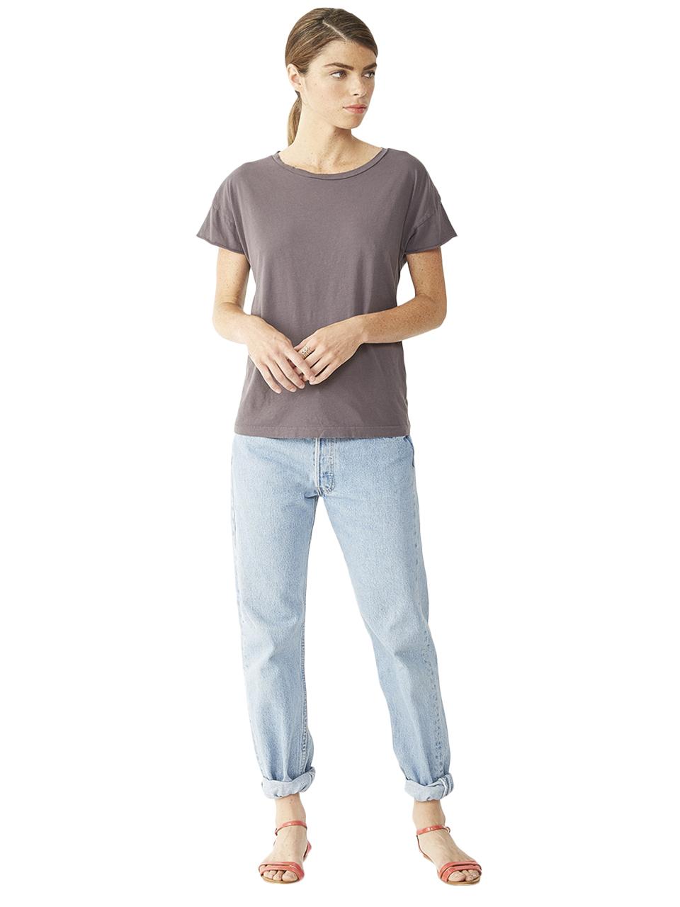 alternative apparel rocker t shirt 04134cv in black lyst