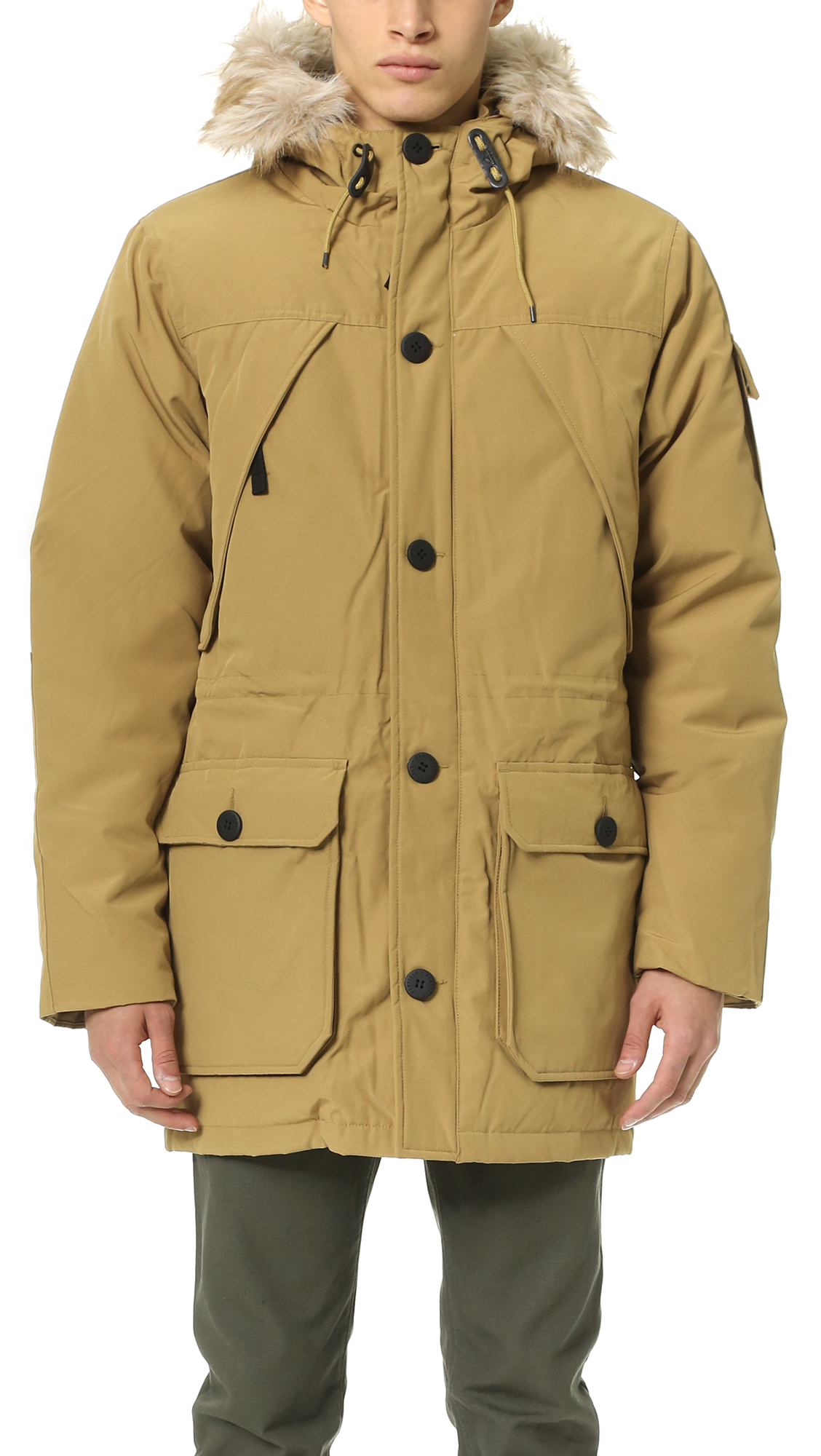 Penfield Hoosac Hooded Mountain Parka in Brown for Men | Lyst