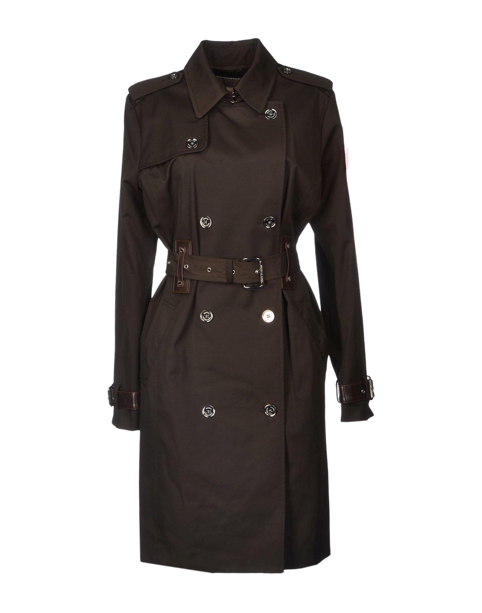 michael michael kors fulllength jacket in brown dark. Black Bedroom Furniture Sets. Home Design Ideas