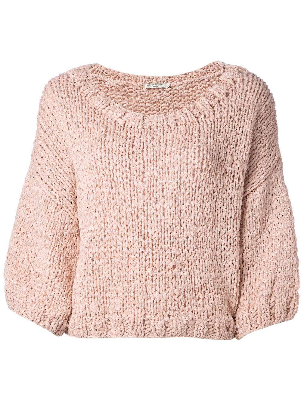 Mes demoiselles Esperanza Cropped Sweater in Pink   Lyst