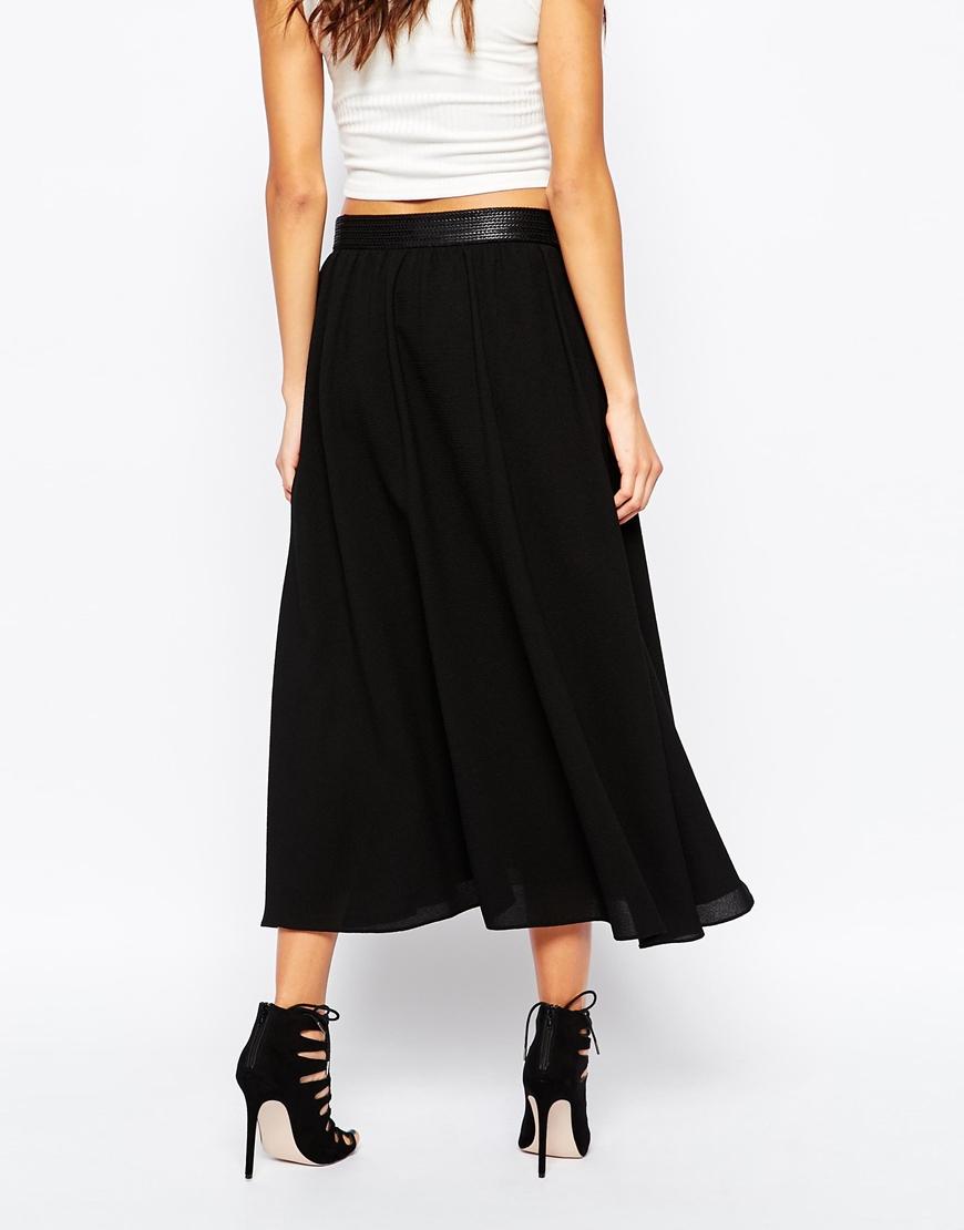 orange bepiumi midi skirt in black in black lyst