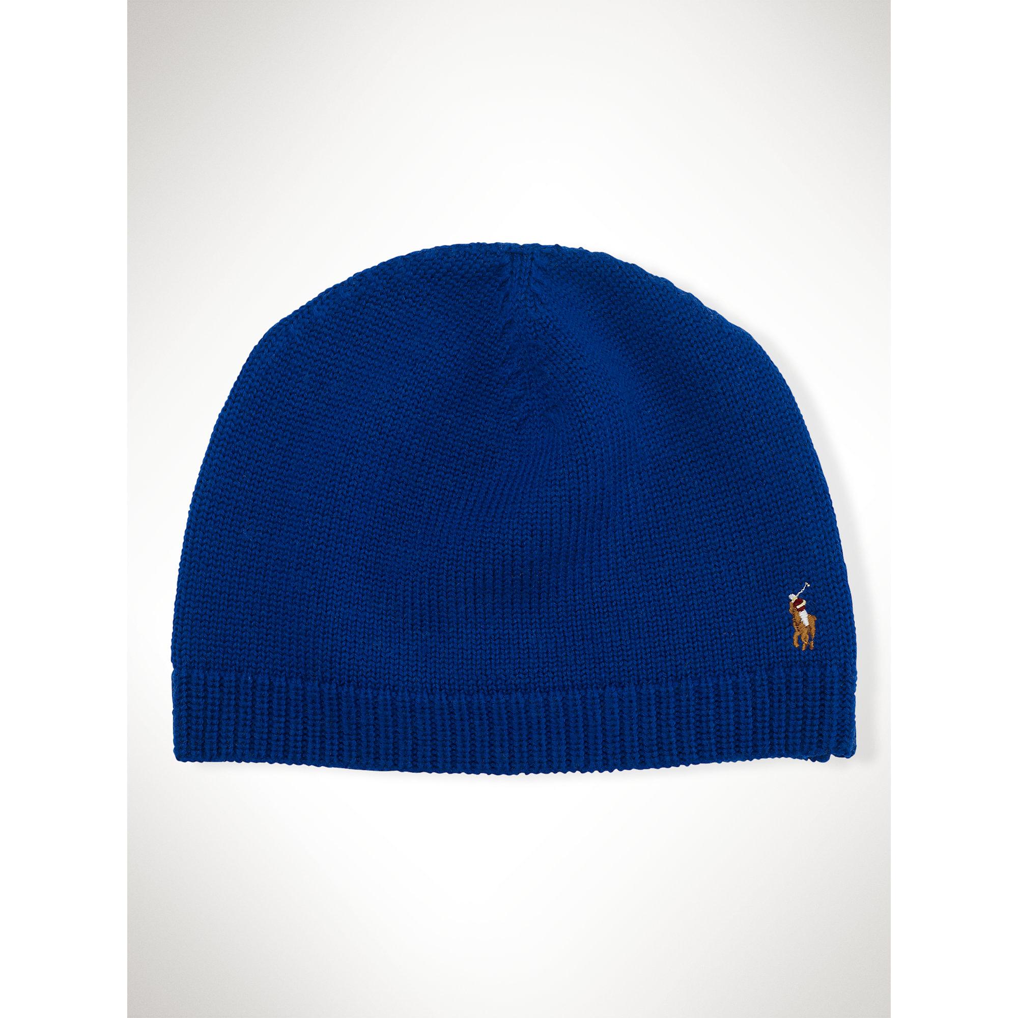 7d2fde98a3a Lyst - Polo Ralph Lauren Classic Merino Watch Cap in Blue for Men
