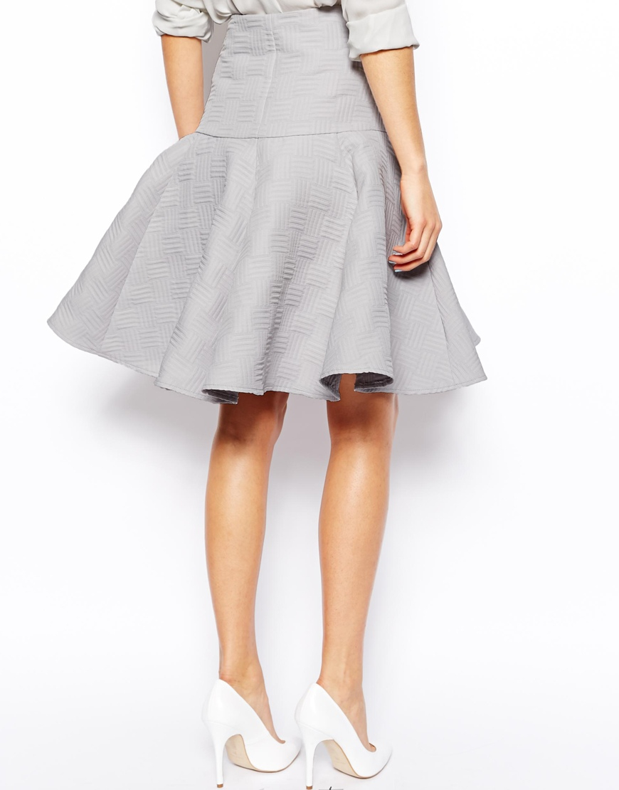 best fashion white peplum midi skirt