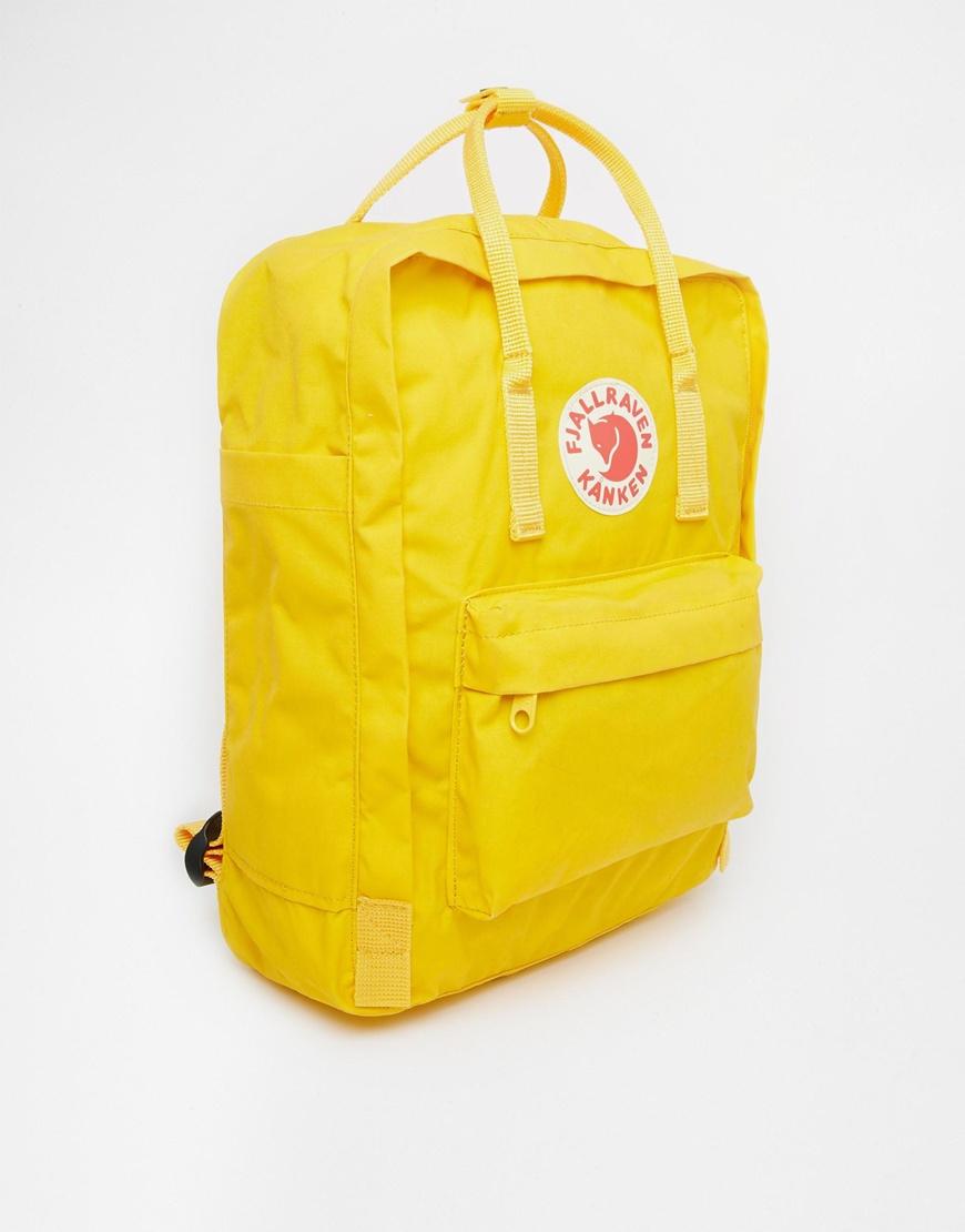Fjallraven Kanken In Warm Yellow In Yellow Lyst