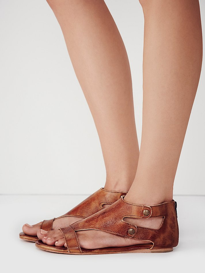 8095518f1401 Lyst - Free People Soto Washed Leather Sandal in Brown