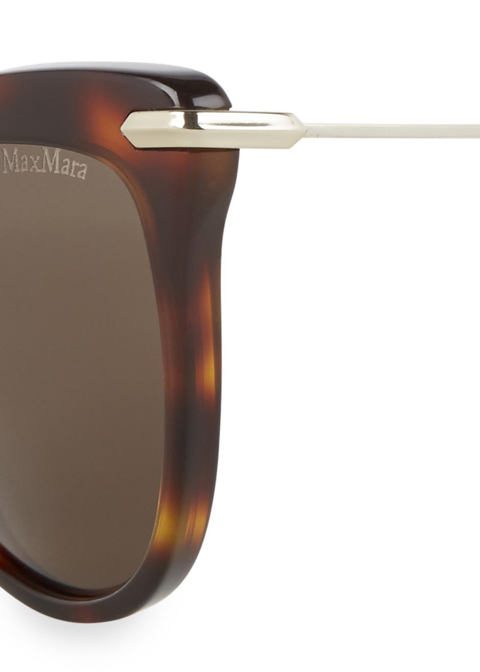 ddbafb2ed37f Max Mara Edgy Tortoiseshell Cat Eye Sunglasses in Metallic - Lyst