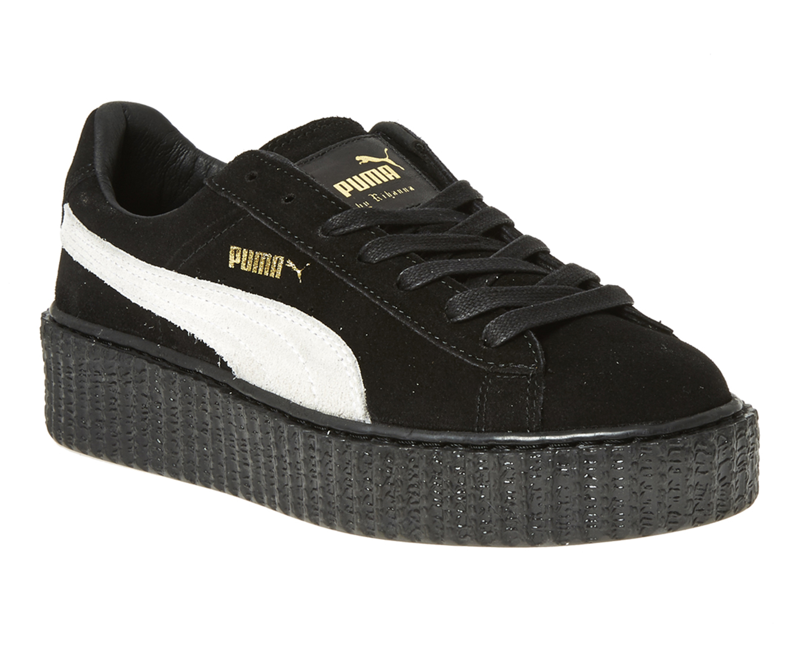 lyst puma suede creepers in black. Black Bedroom Furniture Sets. Home Design Ideas