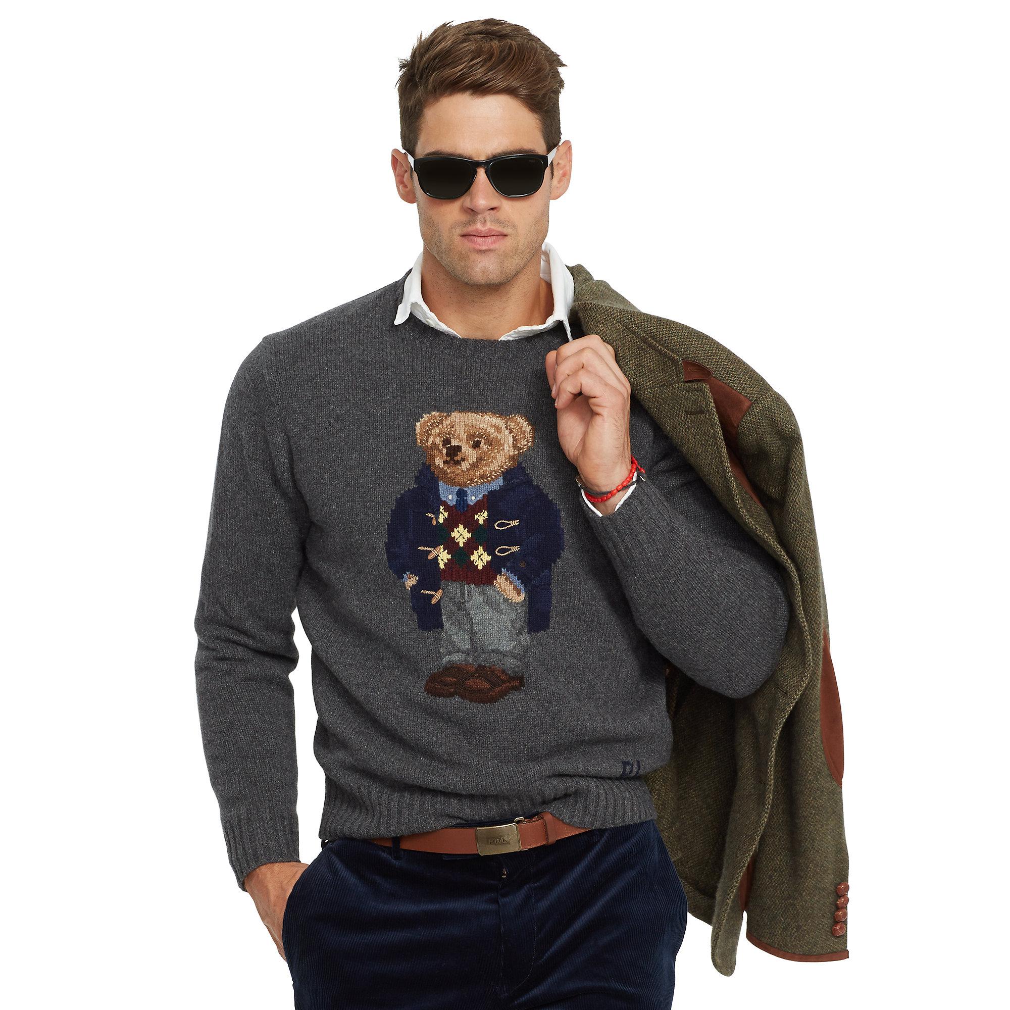 Lyst - Polo Ralph Lauren Long Sleeve Crewneck Pullover in ...