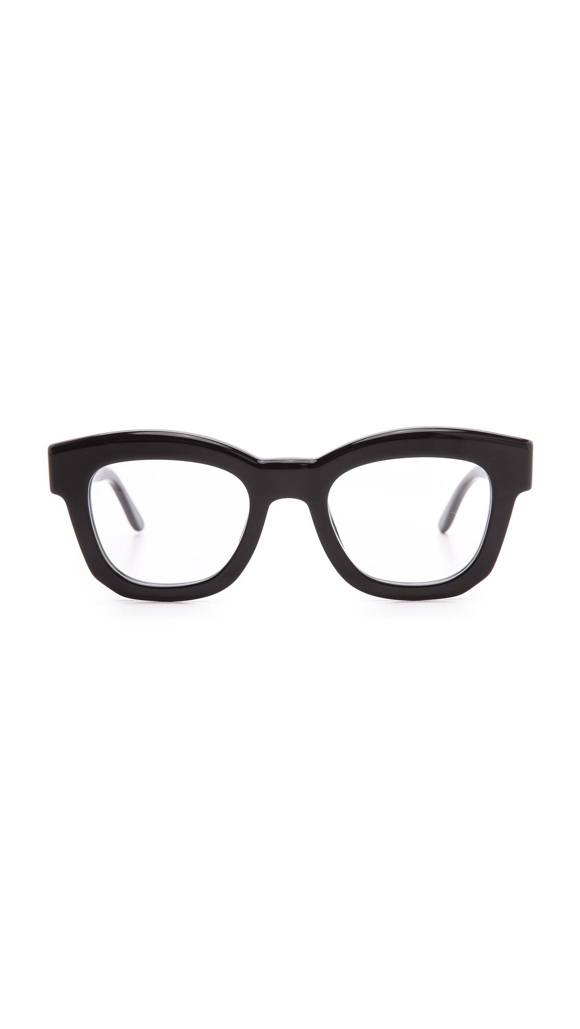 6b21b1a0cf Stella McCartney Thick Frame Glasses - Brown in Black - Lyst
