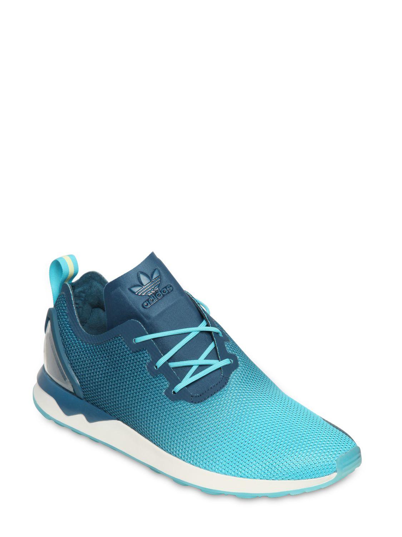 Lyst Adidas Originals Sneakers Zx Flux Racer Asym In Nylon Blue Black Gallery