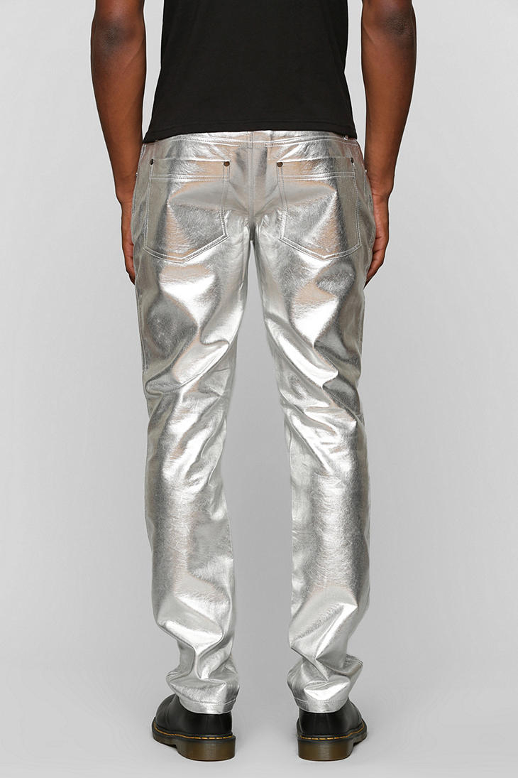 Lyst Urban Outfitters Tripp Nyc Metallic Skinny Pant In