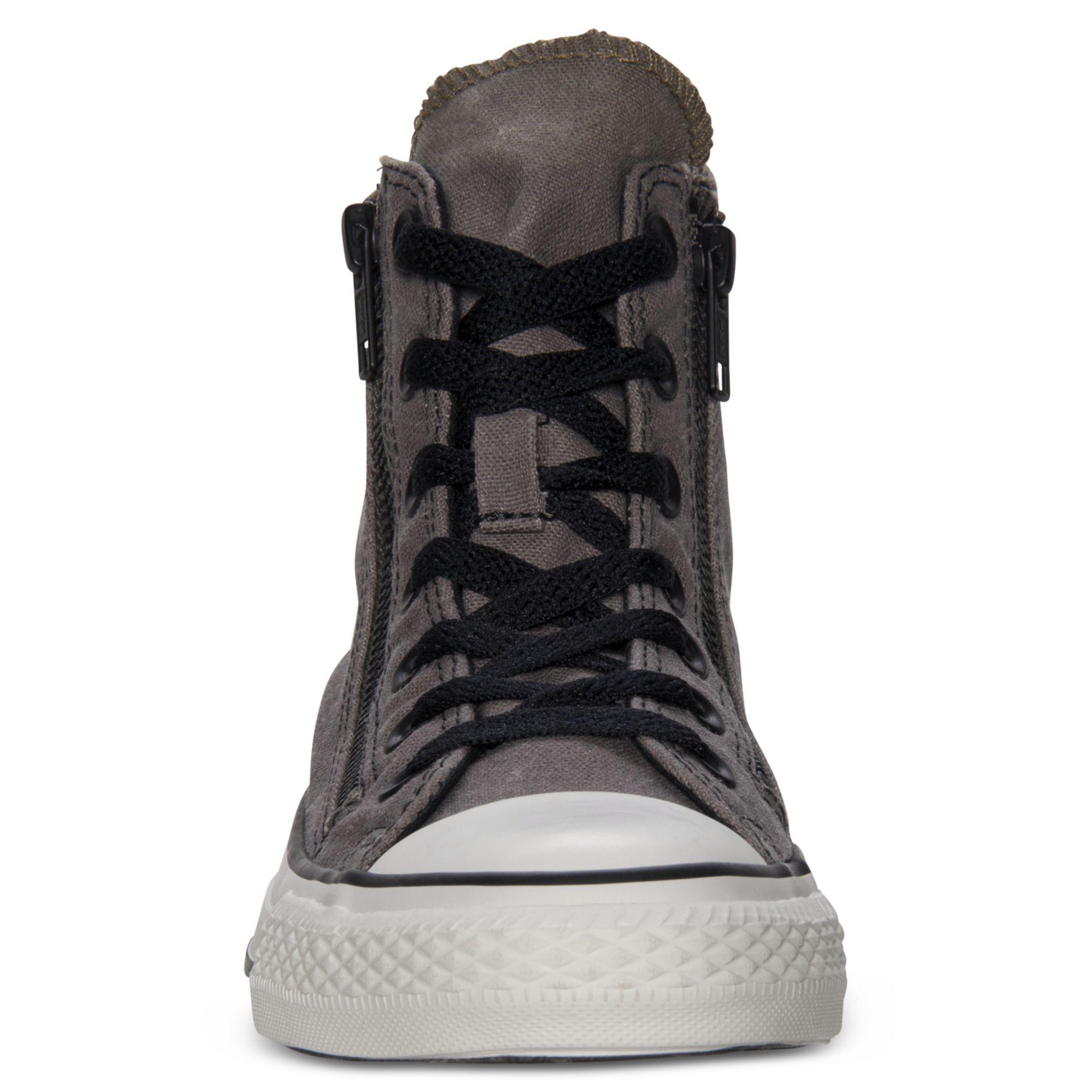 Converse Sneakers Mens - Converse Chuck Taylor All Star Double Zip Hi Purple
