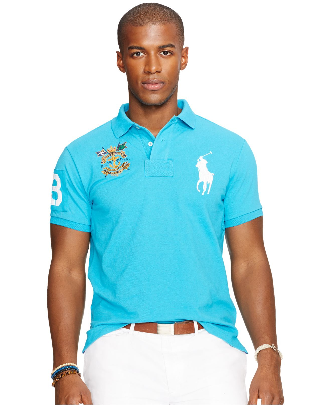 Lyst Polo Ralph Lauren Custom Fit Big Pony Mesh Polo