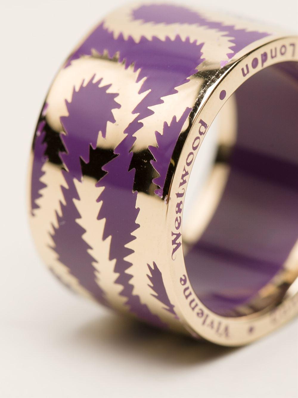 Vivienne Westwood Ring Purple Crystal
