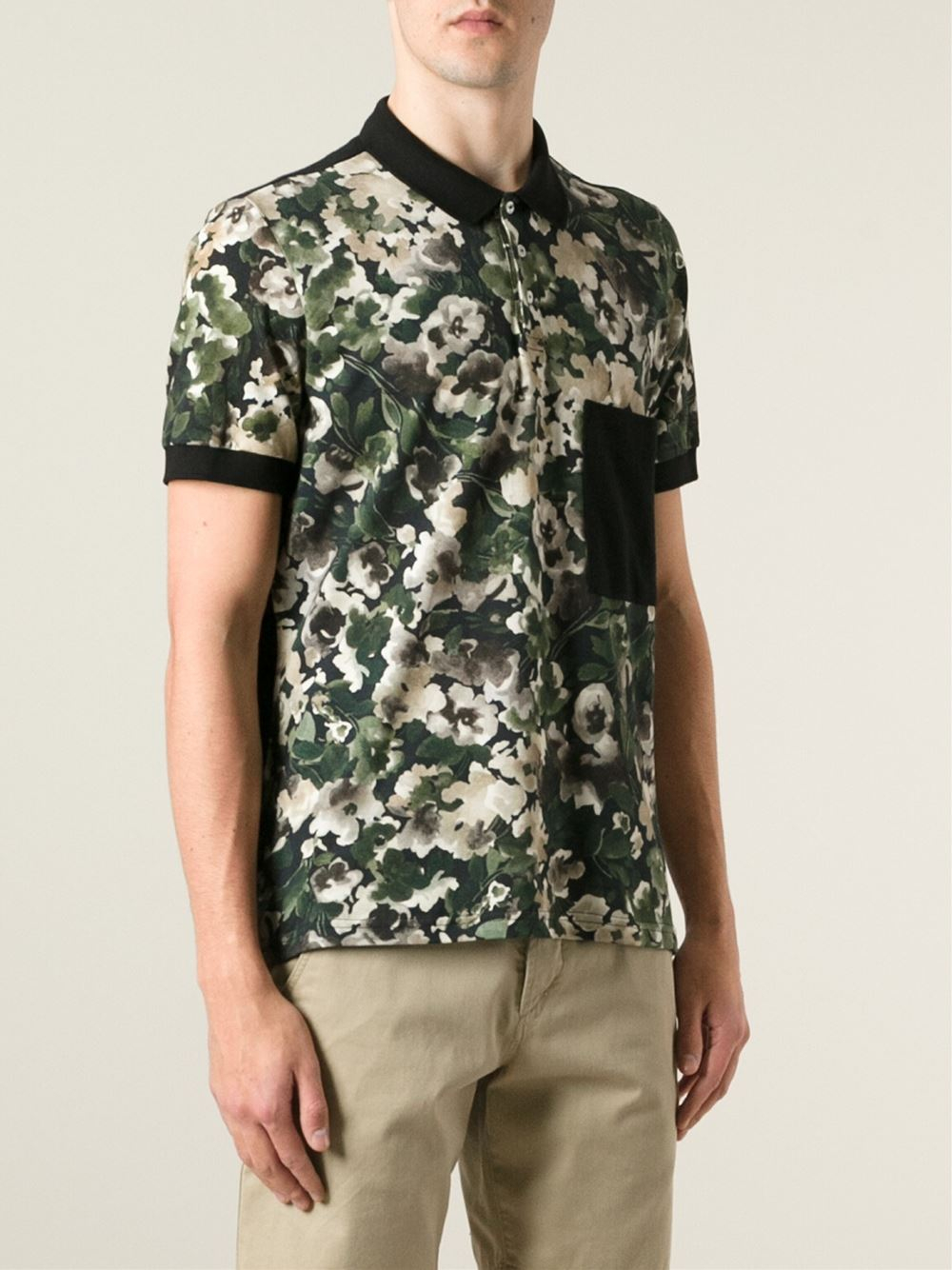 floral print pique polo shirt Msgm New Sale Online 2GOEd