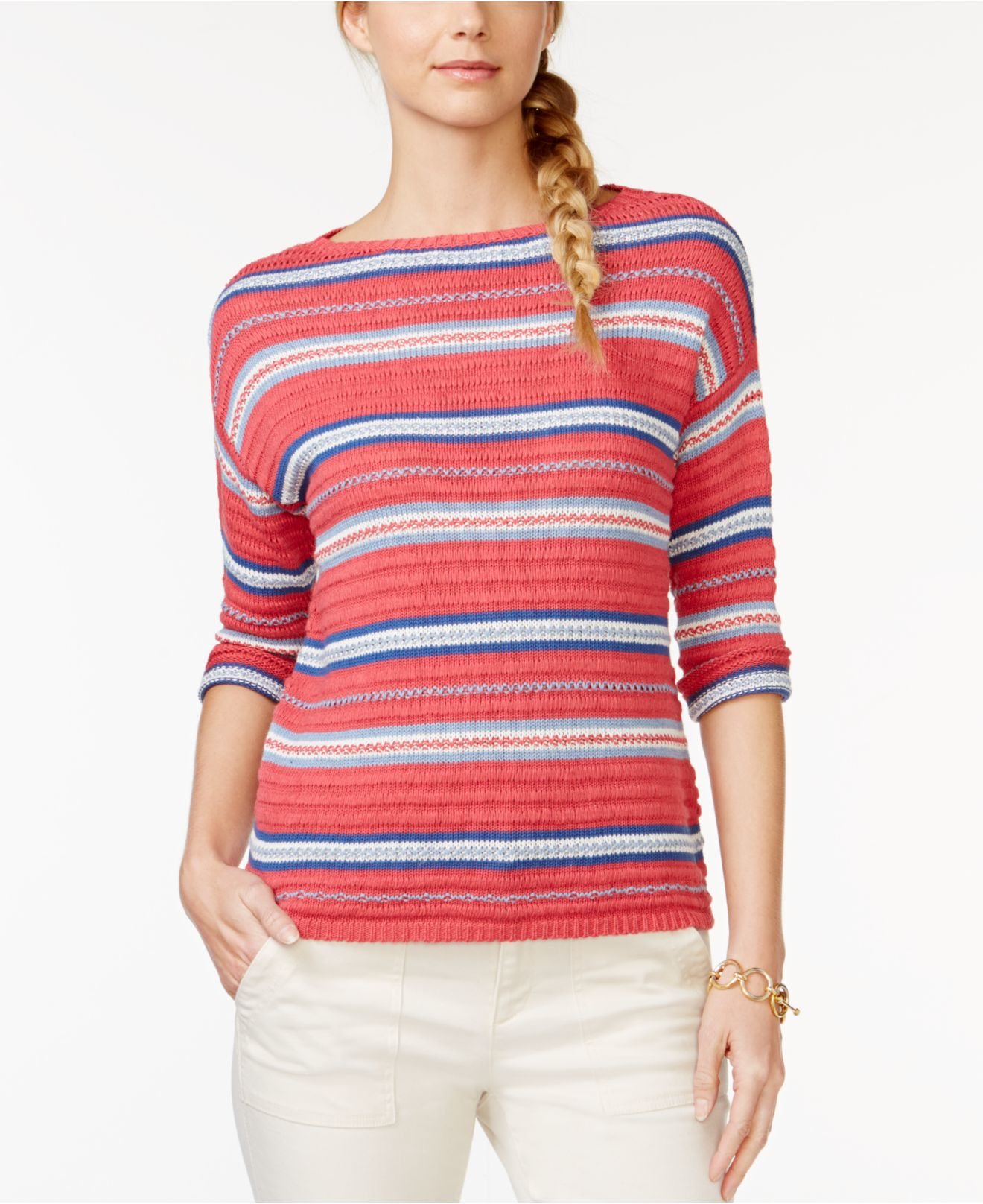 American Living Striped Sweater Only At Macy 39 S Lyst