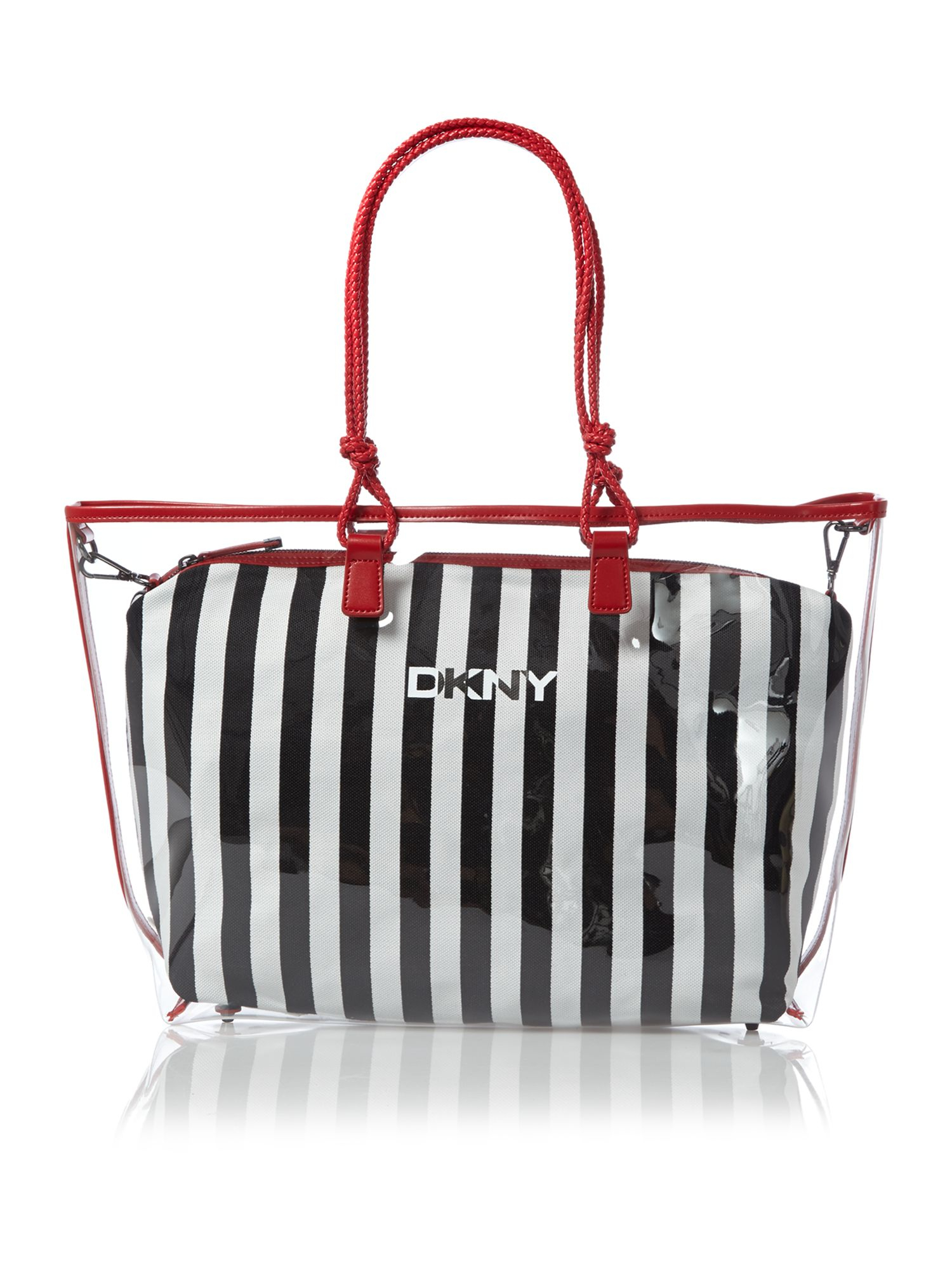 Dkny Beach Clear Stripe Tote Bag | Lyst